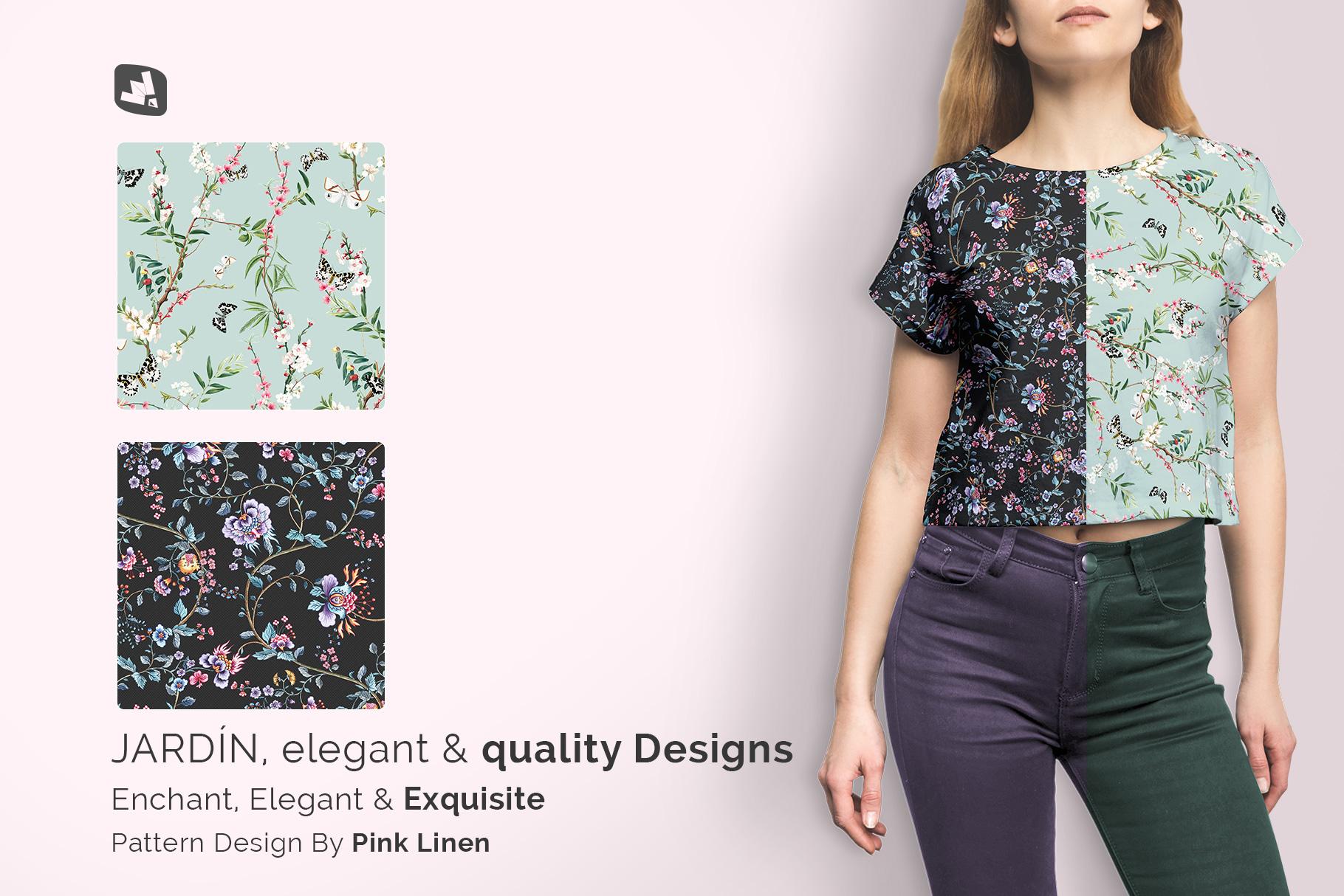 designer's credit of the female crop top tshirt mockup