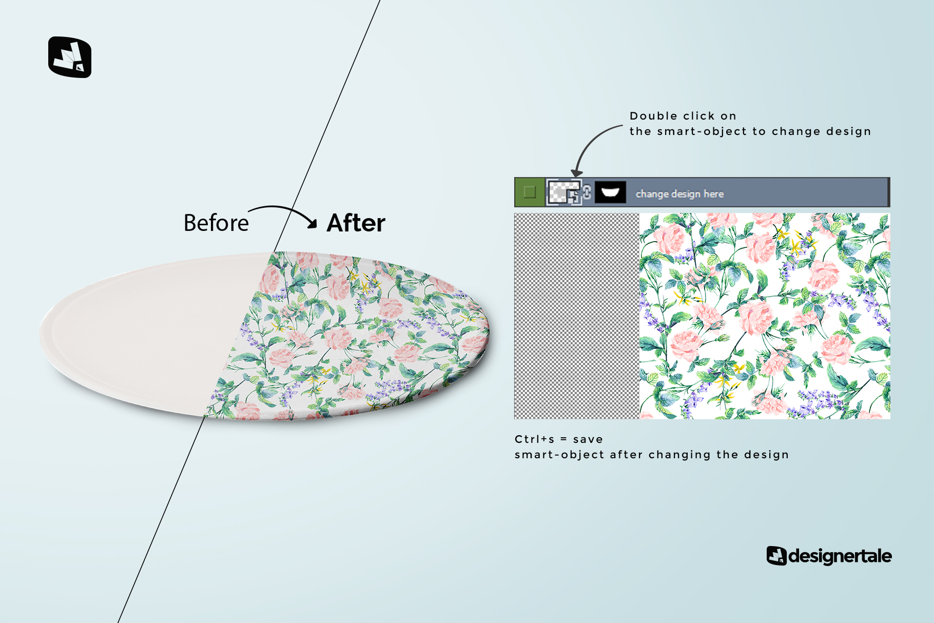 how to change design of the single ceramic dinner plate mockup