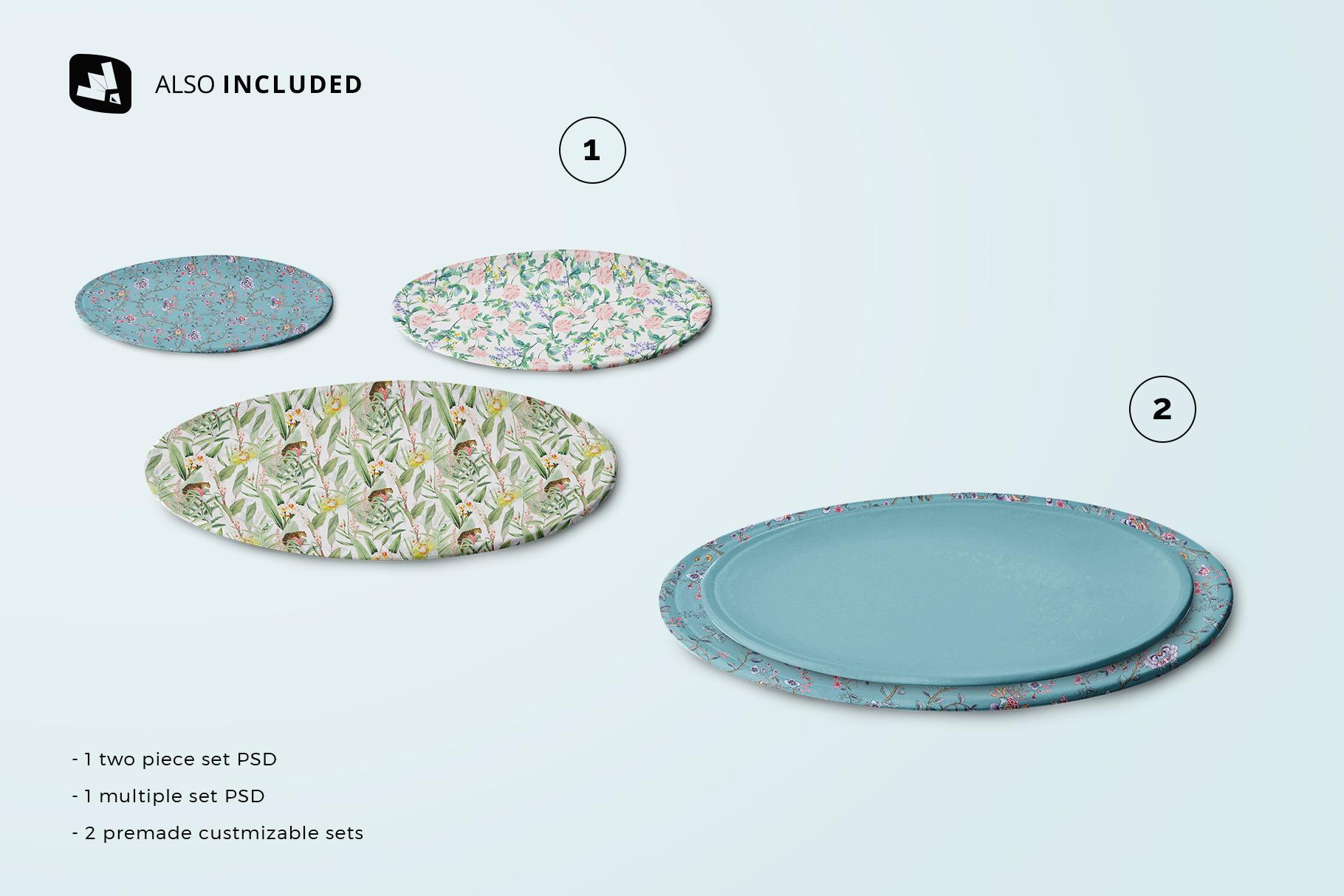 included files in the single ceramic dinner plate mockup