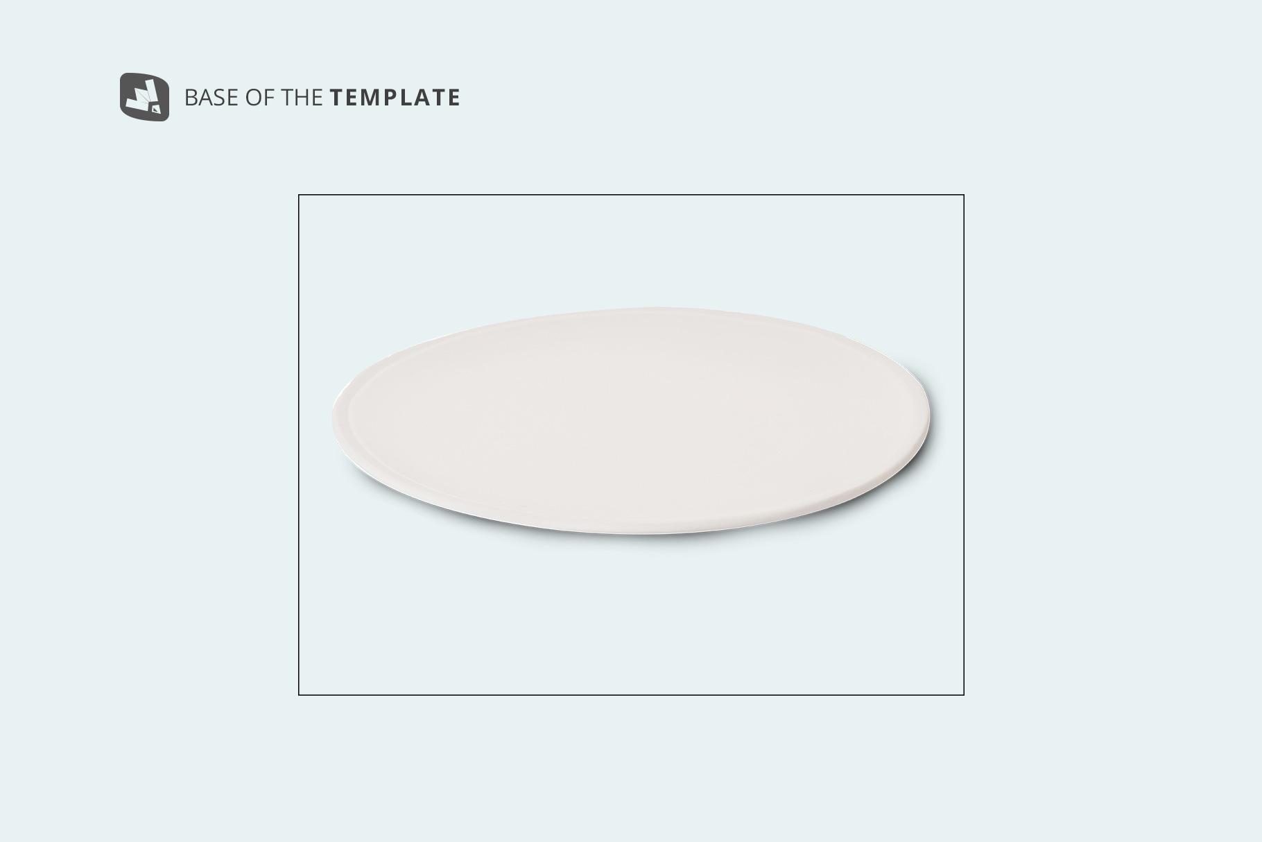 base image of the single ceramic dinner plate mockup