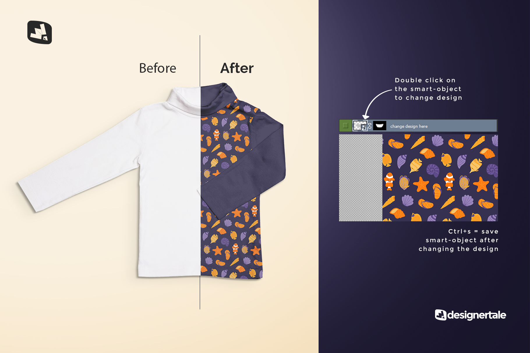 how to change design of the top view toddler turtle neck tshirt mockup