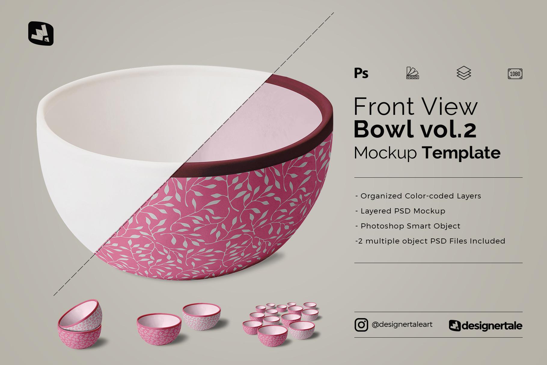 front view bowl mockup vol.2