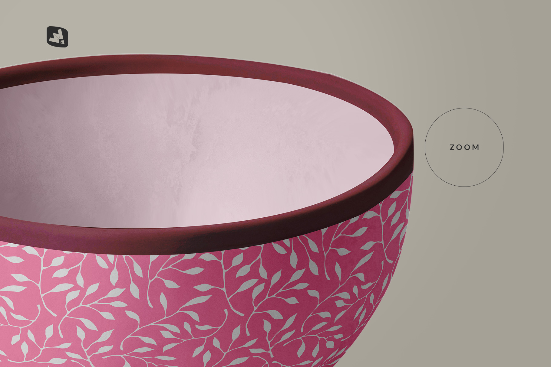 zoomed in image of the front view bowl mockup vol.2