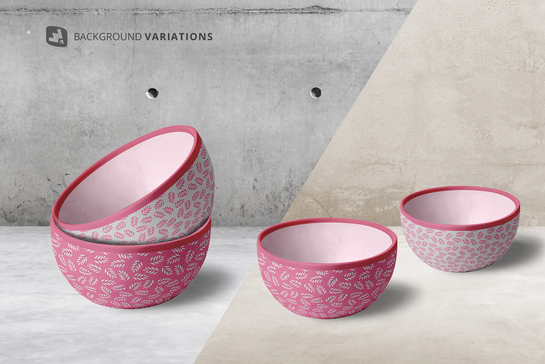 background options of the front view bowl mockup vol.2