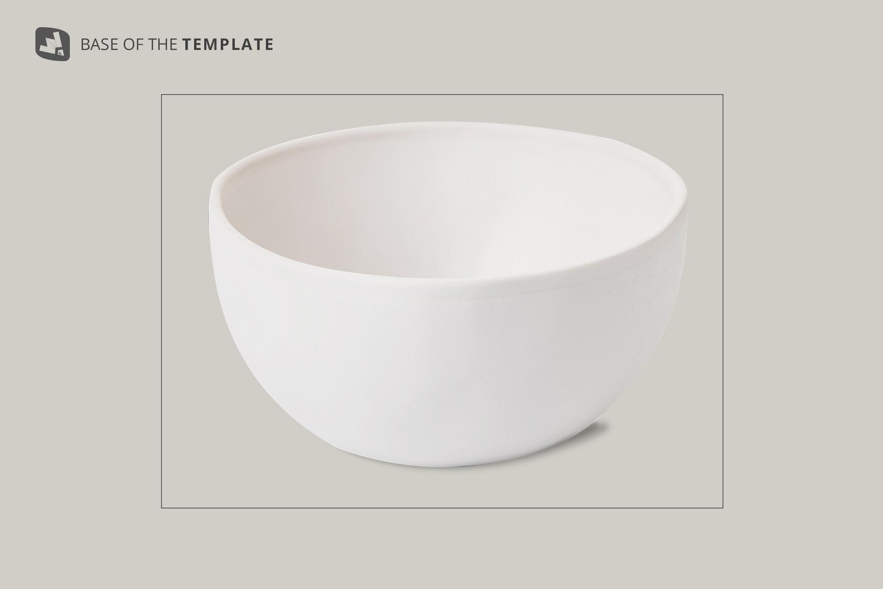 base image of the front view bowl mockup vol.2