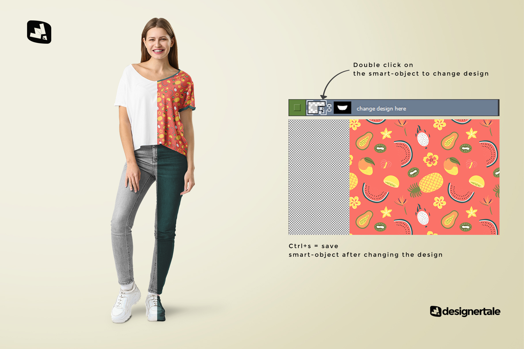 how to change design of the female everyday outfit mockup