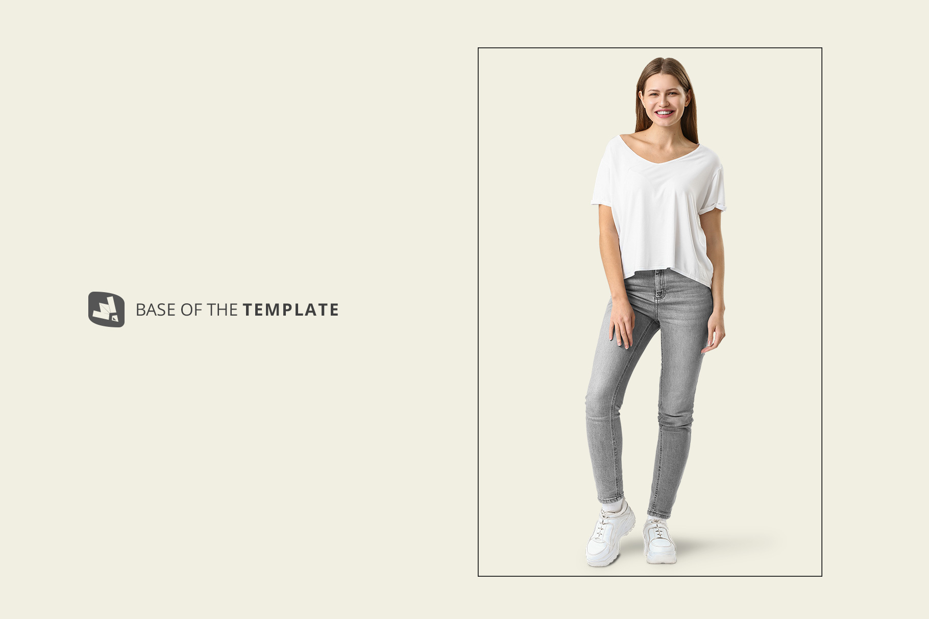 base image of the female everyday outfit mockup