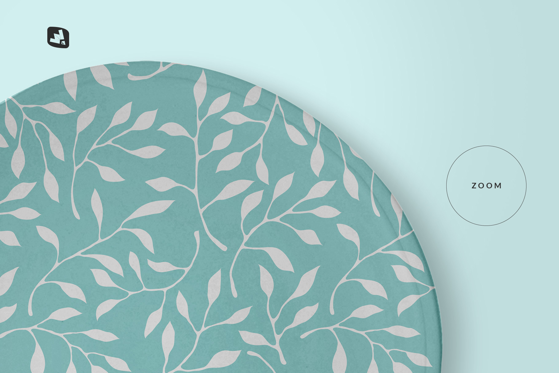 zoomed in image of the top view ceramic dish mockup