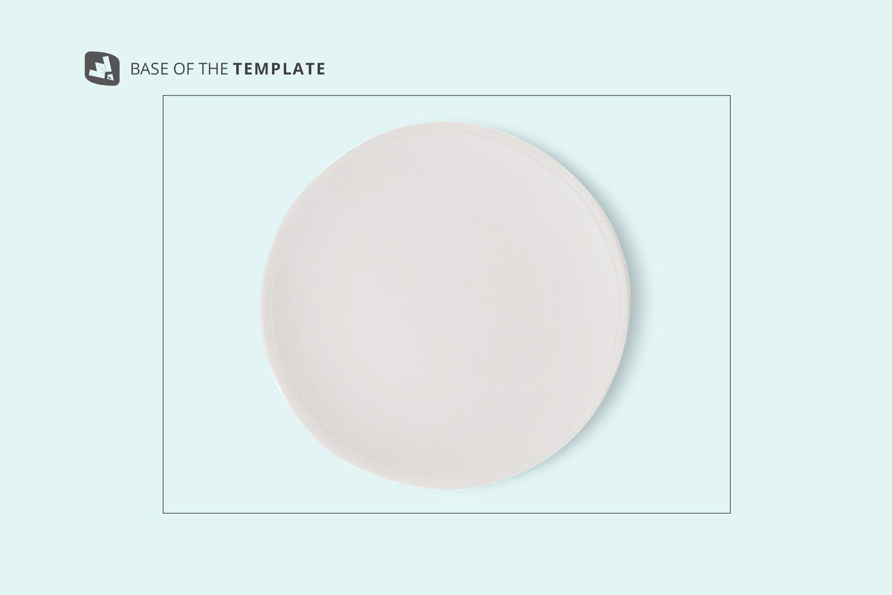 base image of the top view ceramic dish mockup