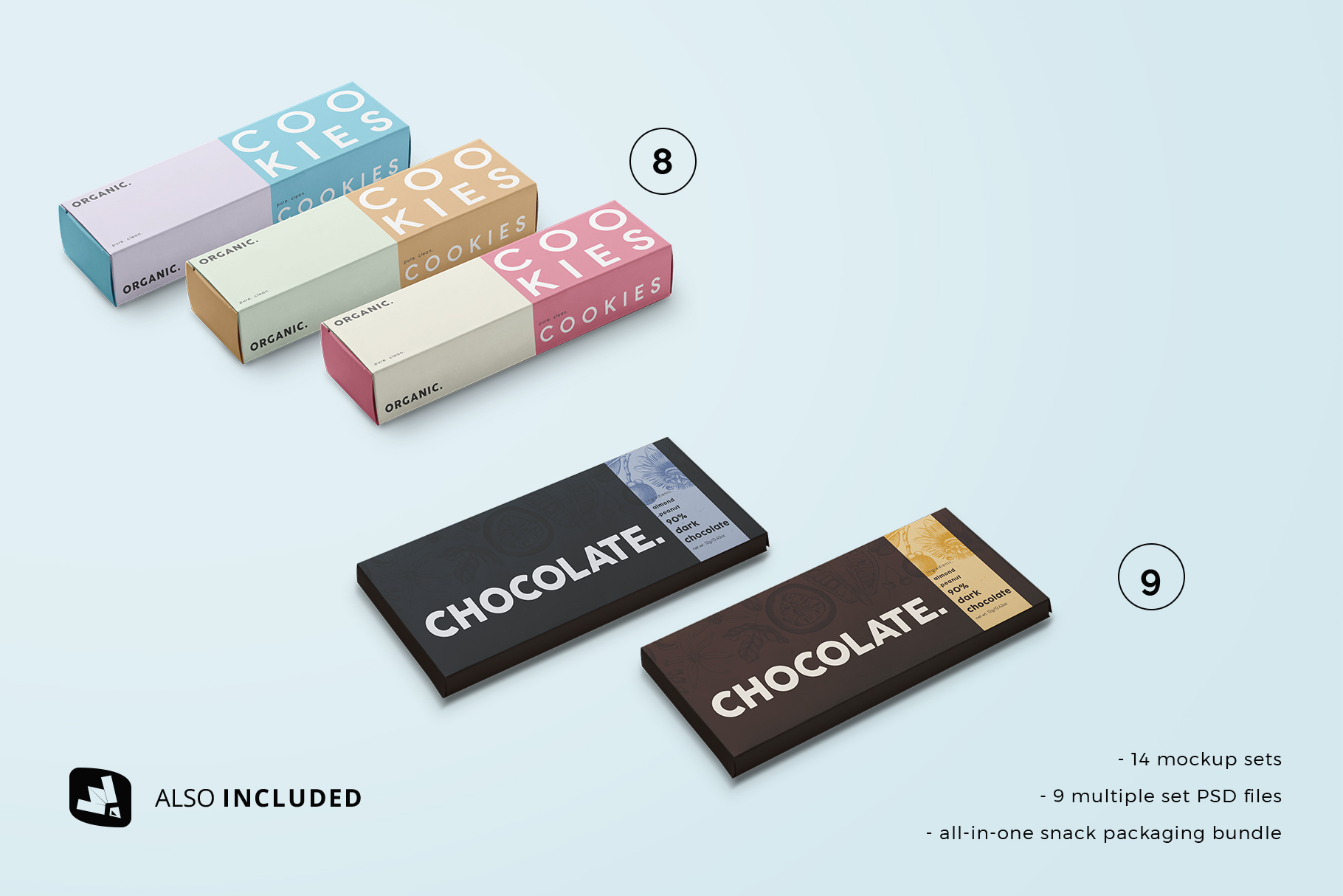 two set files included in the snack packaging mockup bundle
