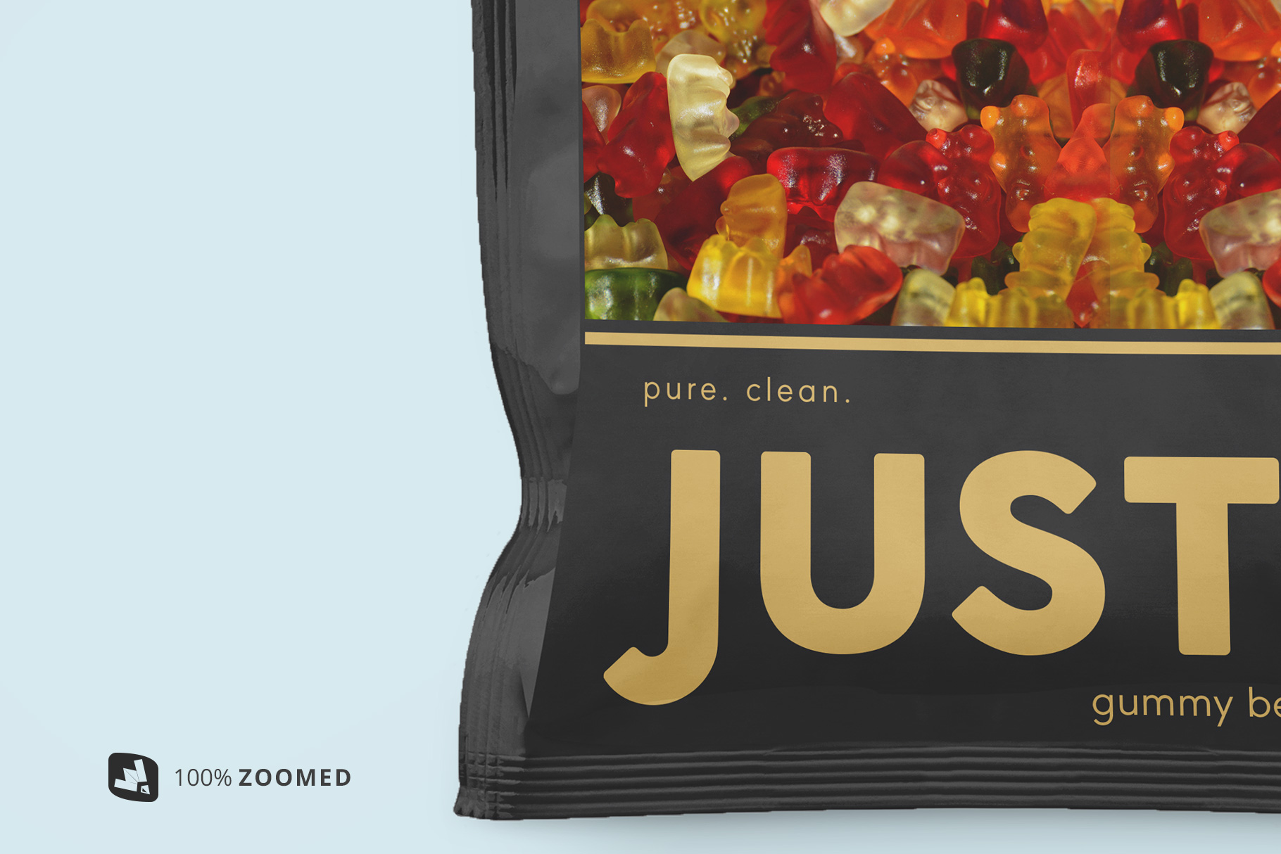 zoomed in image of the snack packaging mockup bundle