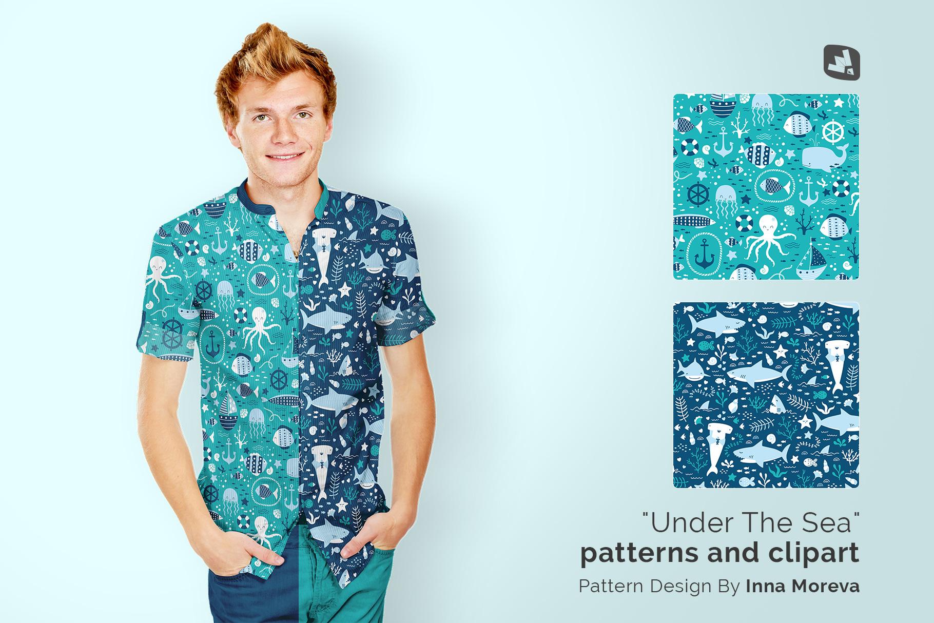 designer's credit of the male y-neck shirt mockup