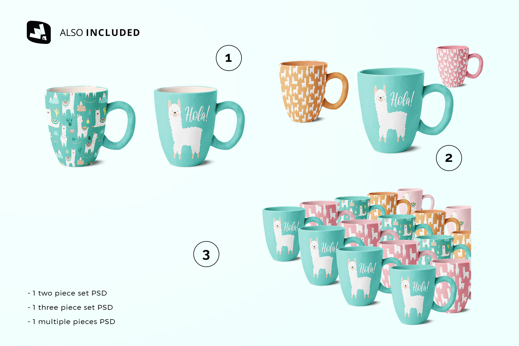 files included in the ceramic mug set mockup