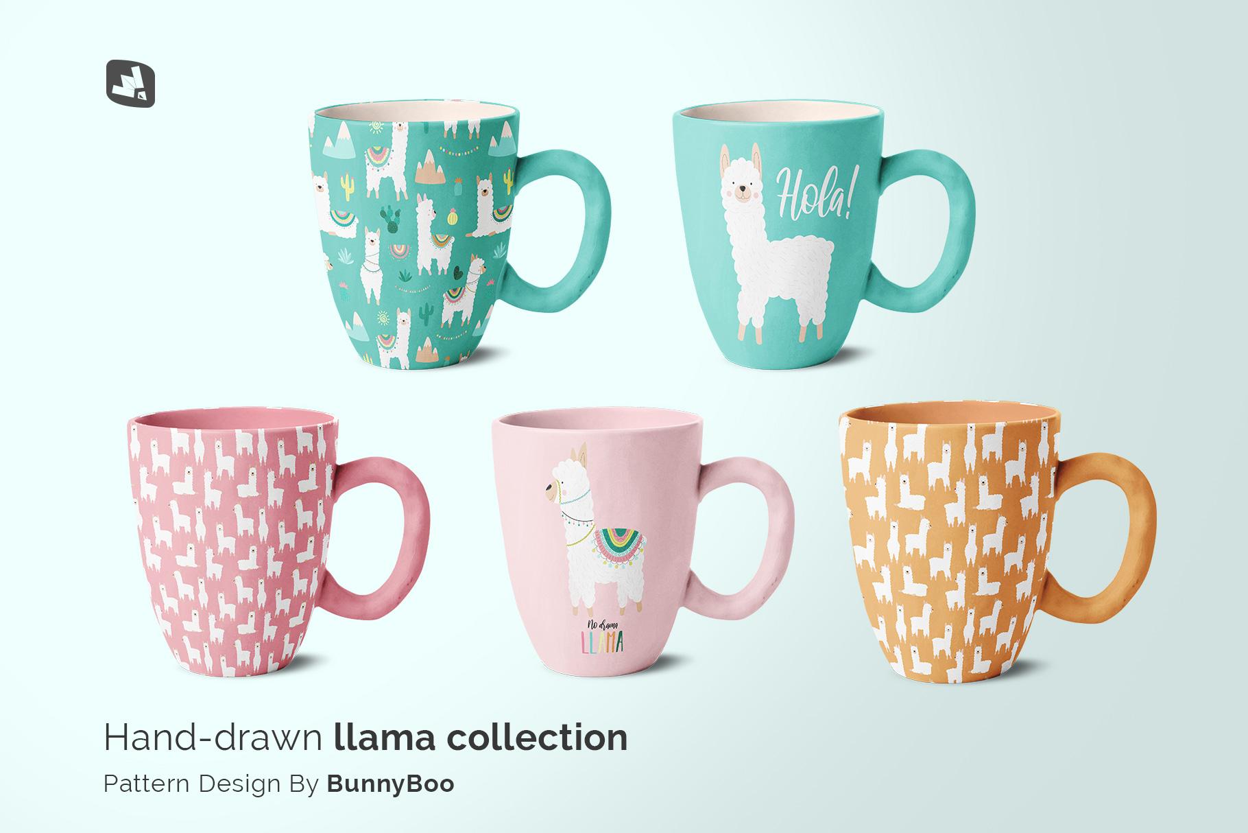 designer's credit of theceramic mug set mockup