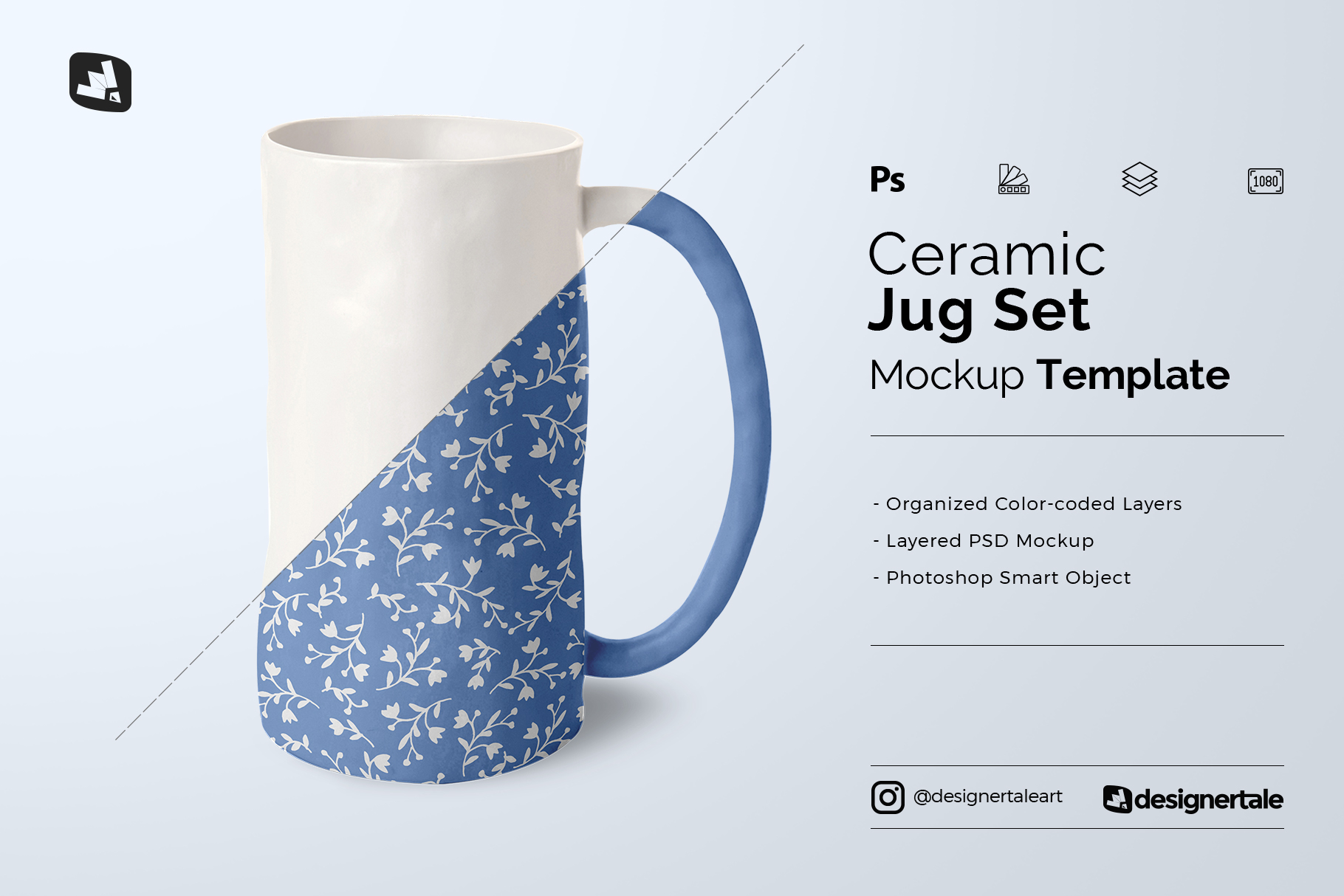 ceramic jug set mockup