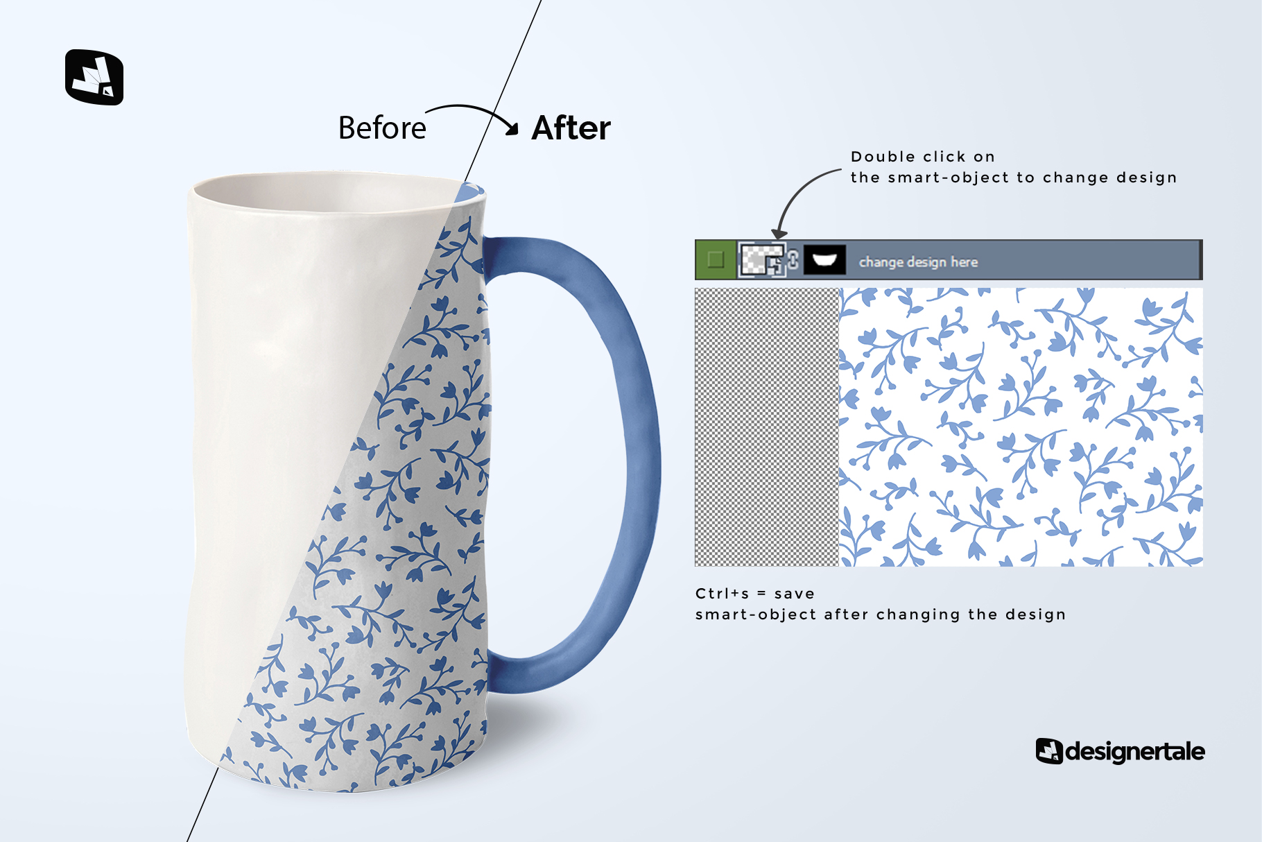 how to change design of the ceramic jug set mockup