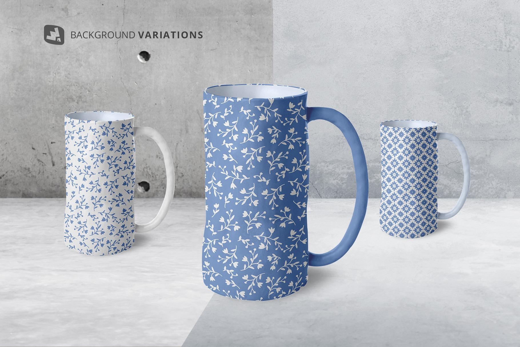background options of the ceramic jug set mockup