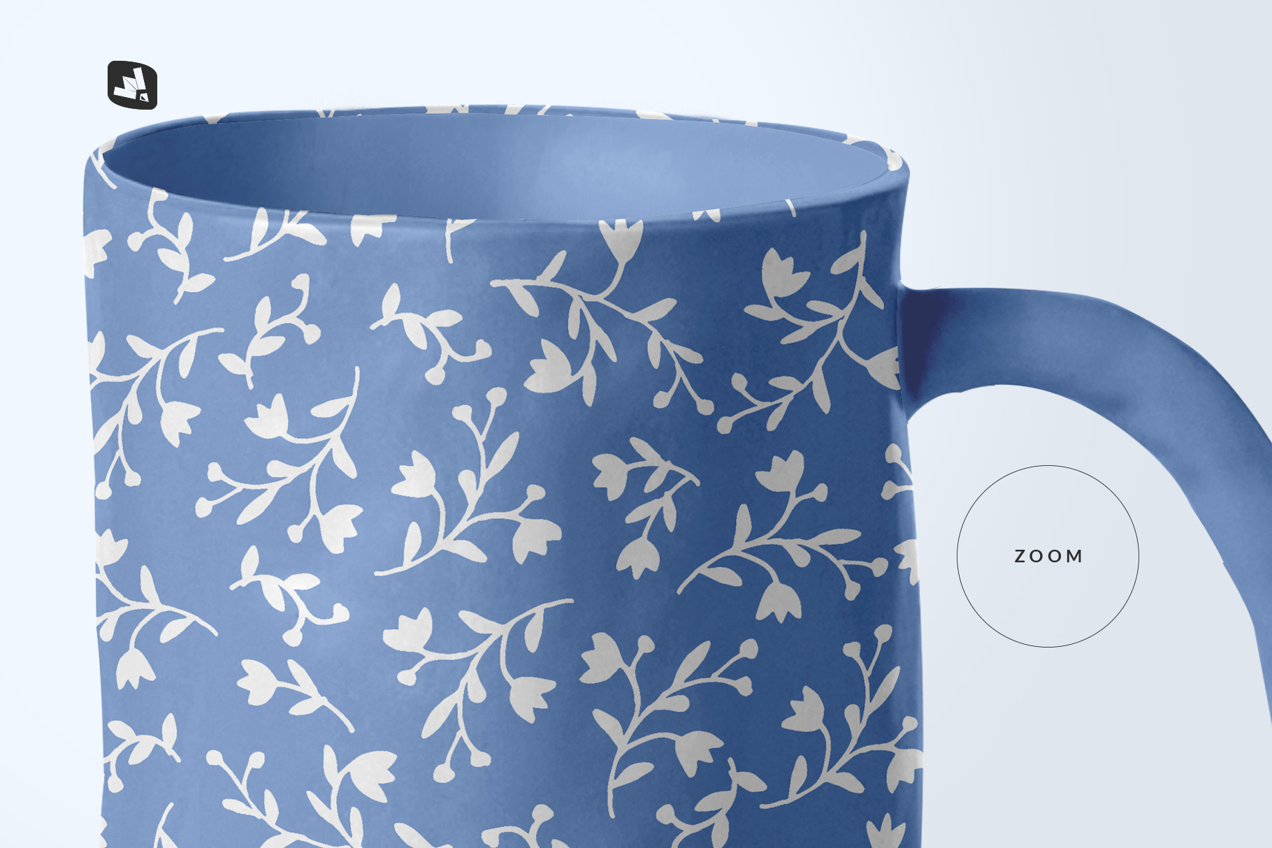 zoomed in image of the ceramic jug set mockup