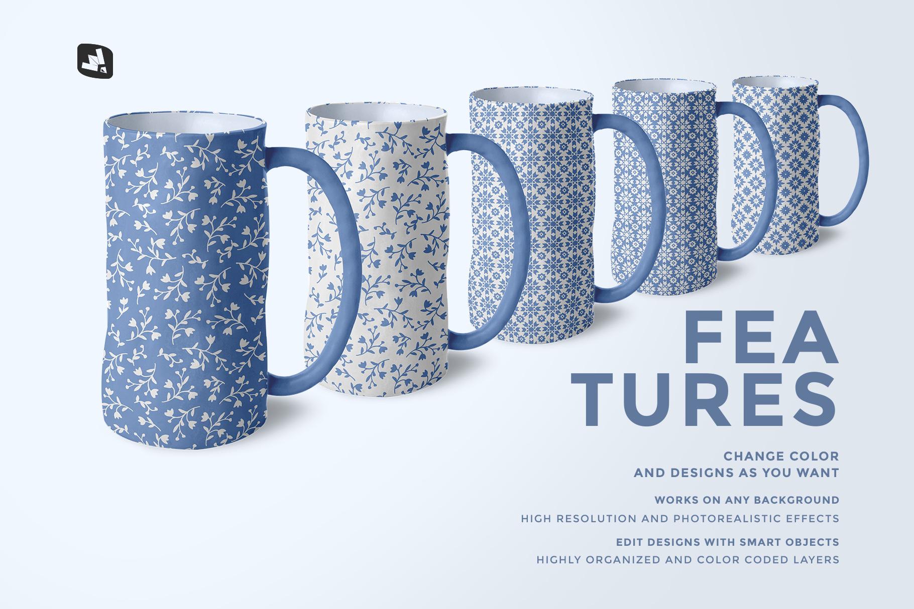 features of the ceramic jug set mockup