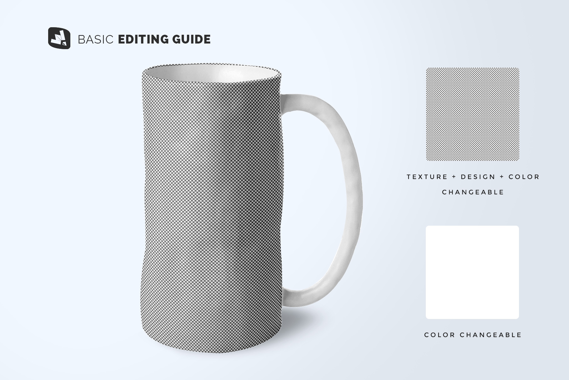 editability of the ceramic jug set mockup