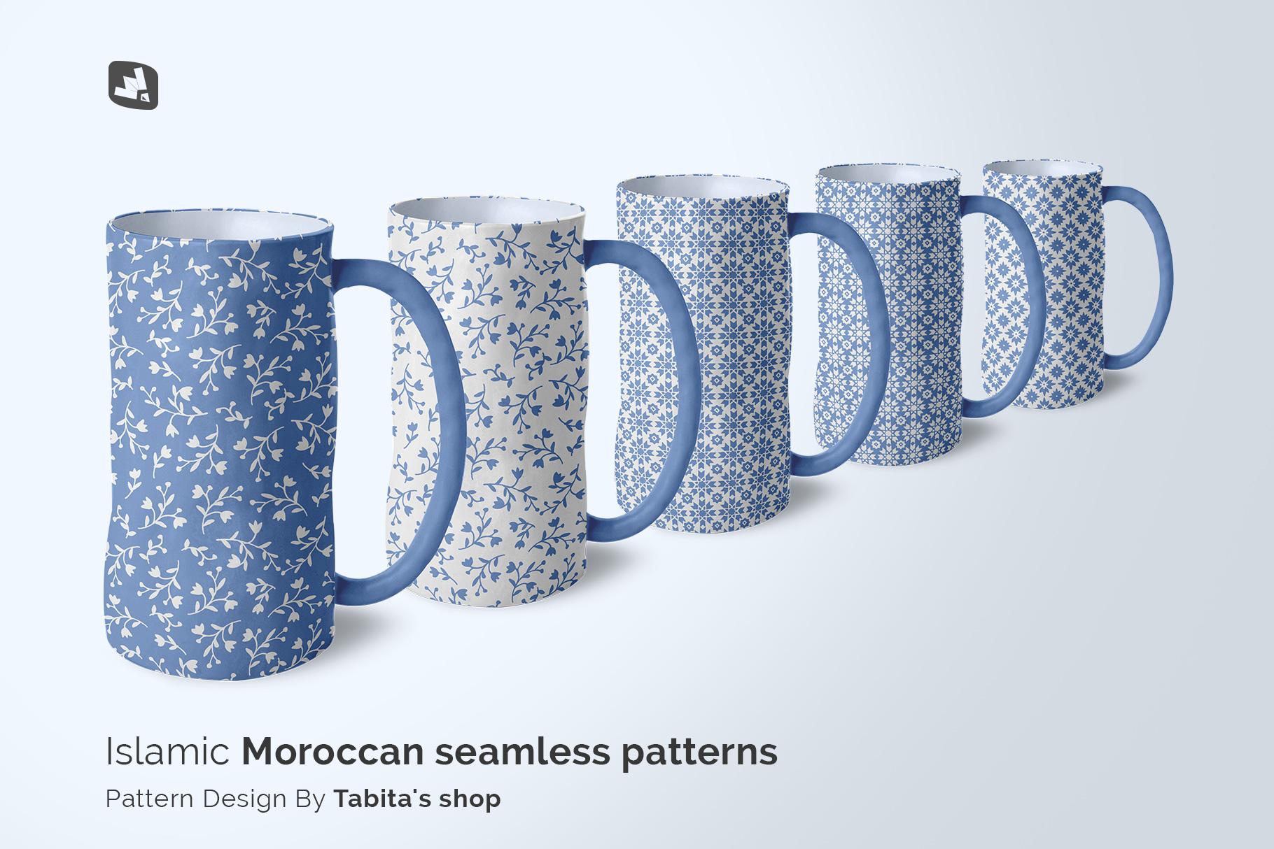 designer's credit of the ceramic jug set mockup