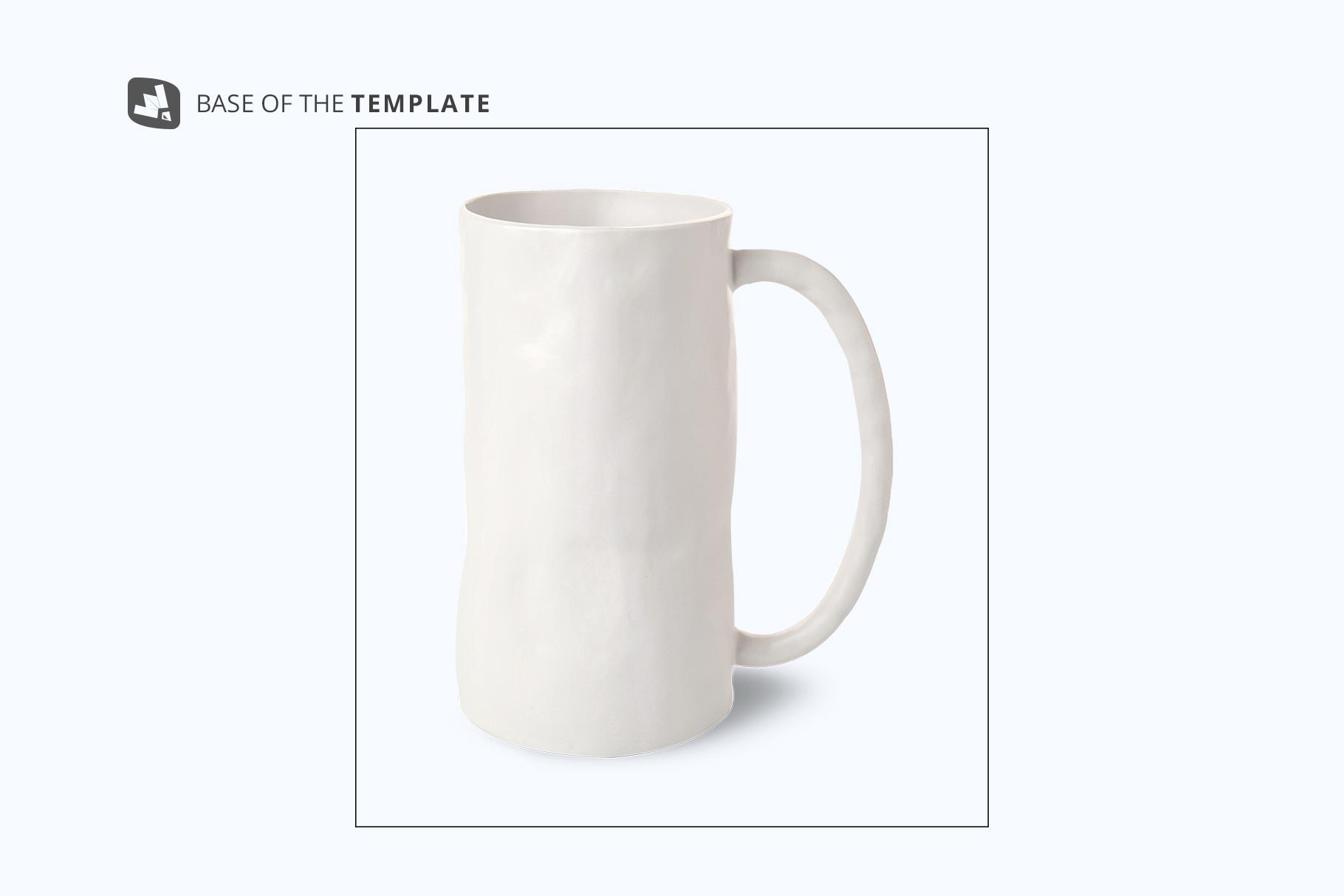 base image of the ceramic jug set mockup