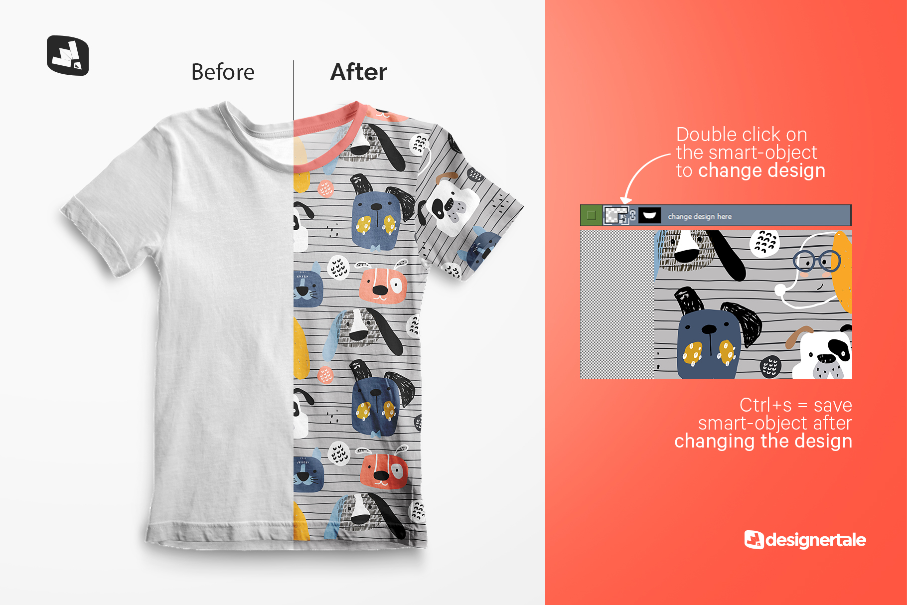 how to change design of the top view boy's summer tshirt mockup