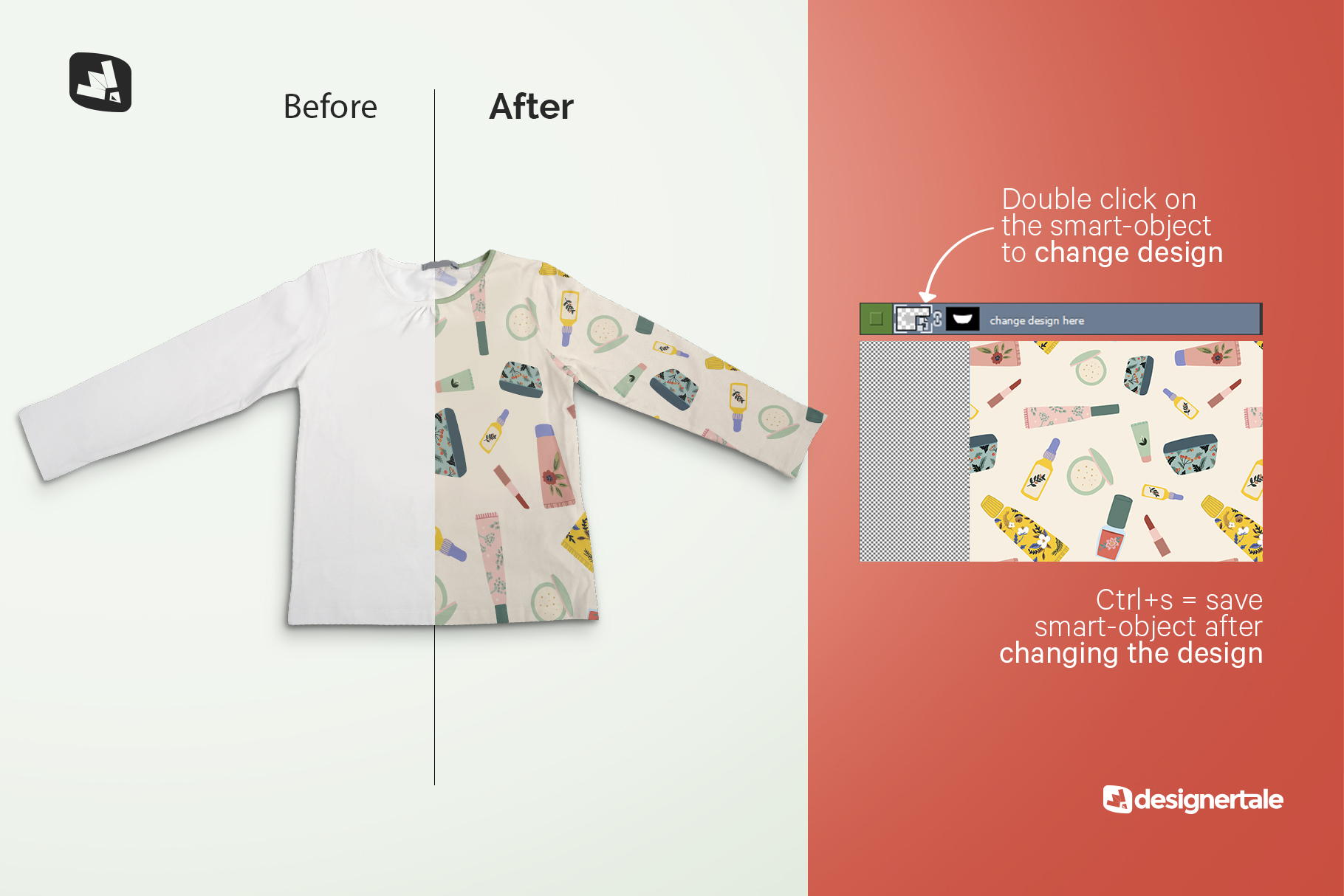 how to change design of the top view girls full sleeve top mockup