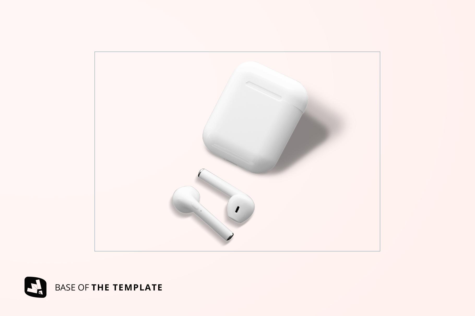 base image of the airpod case mockup