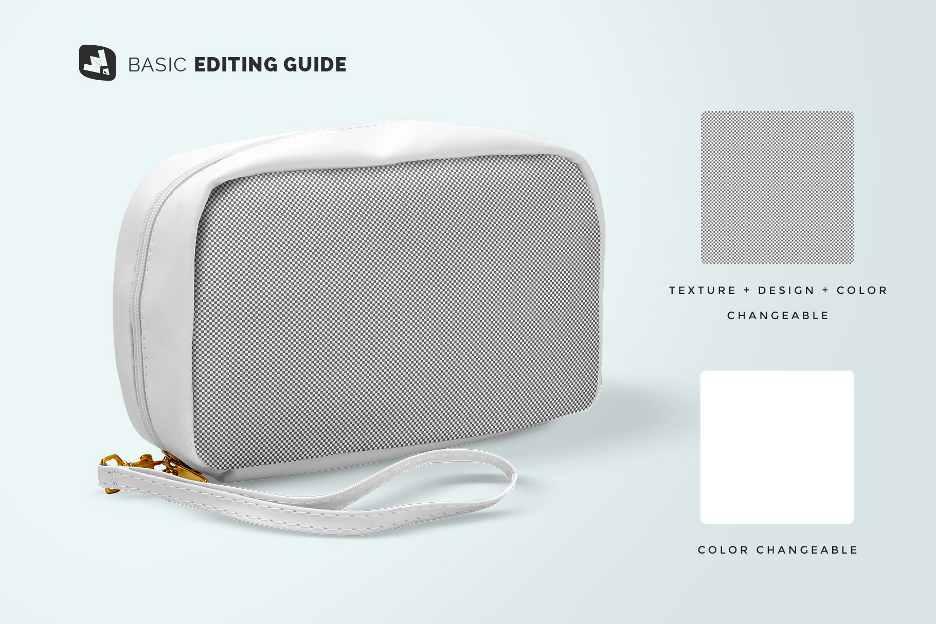 editability of the front view travel kit mockup
