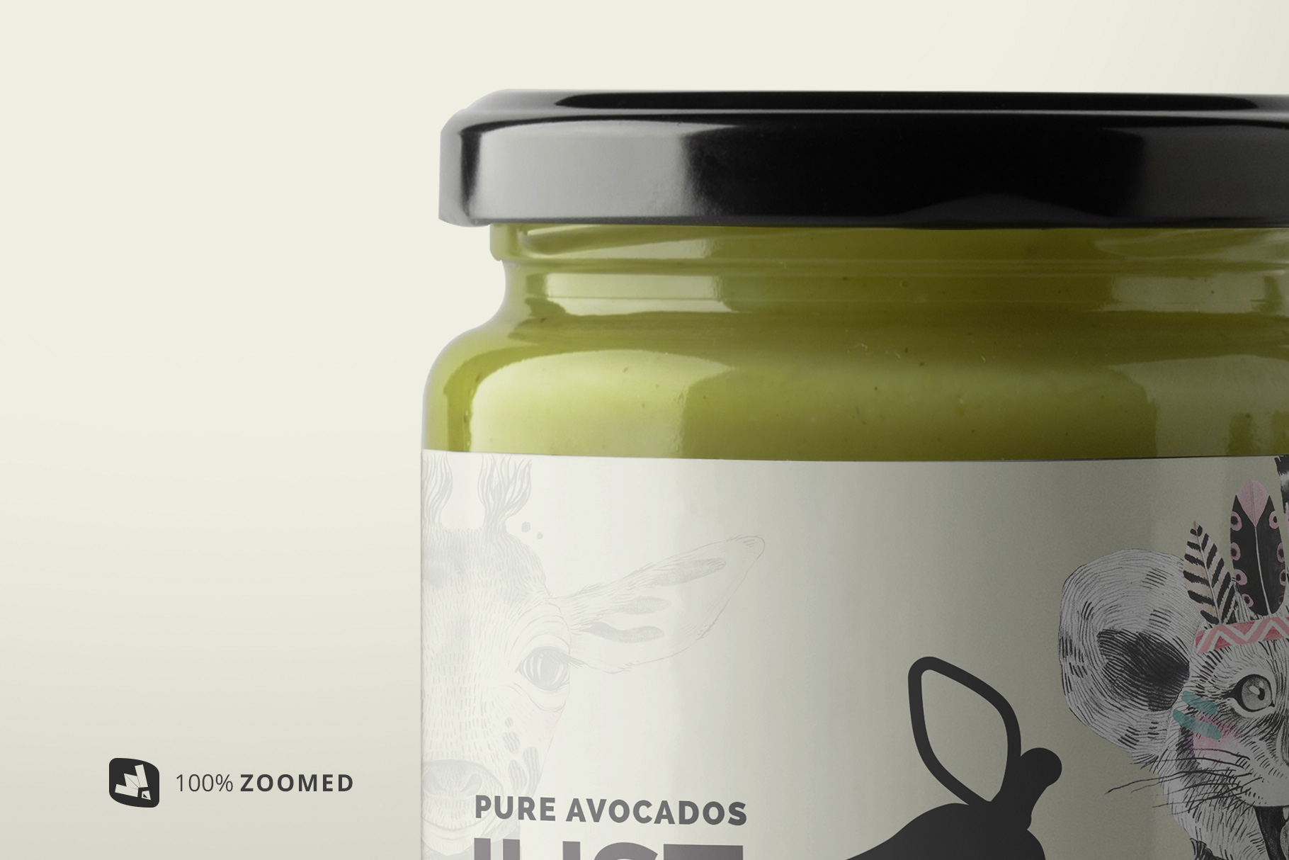zoomed in image of the organic baby food packaging mockup