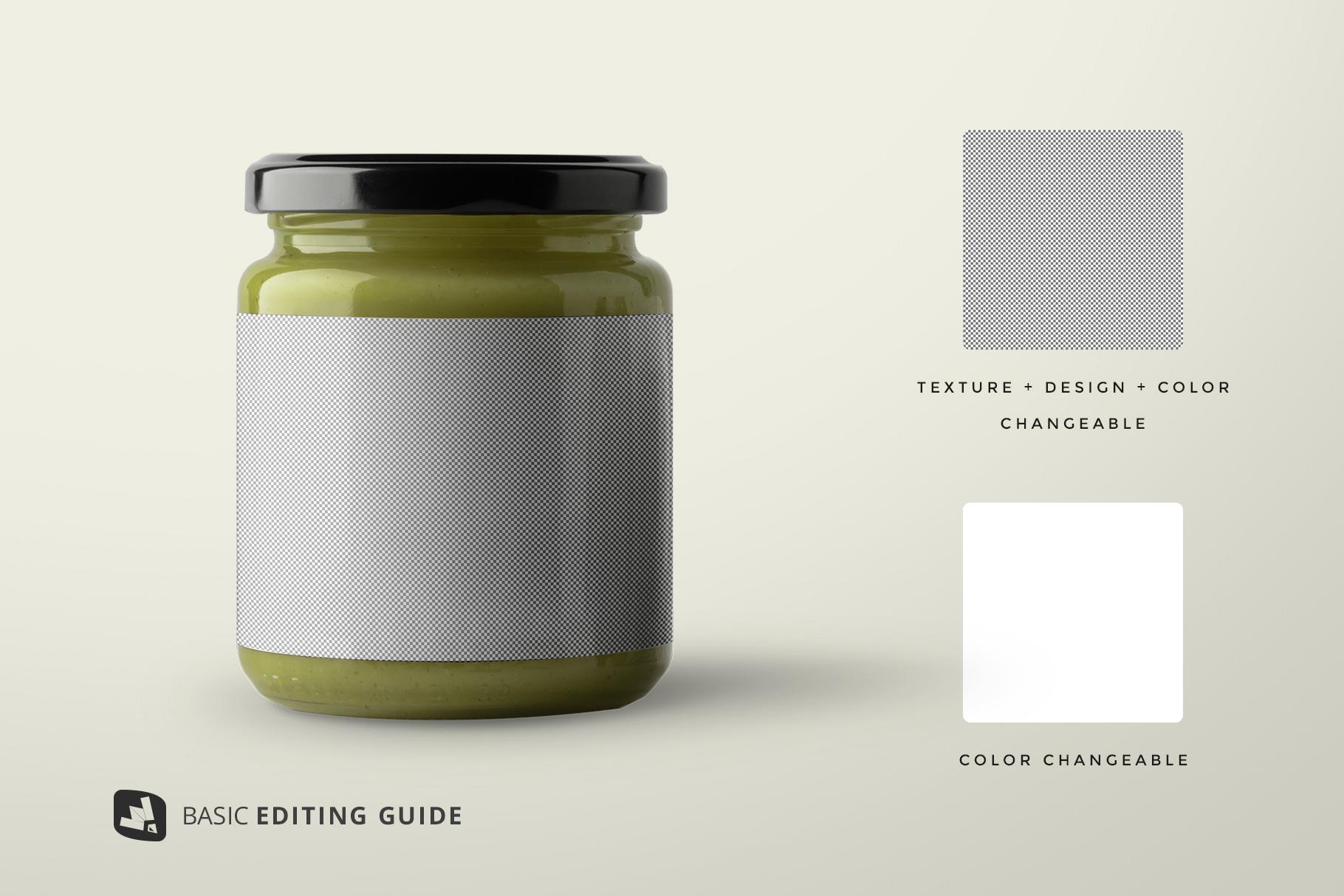 editability of the organic baby food packaging mockup