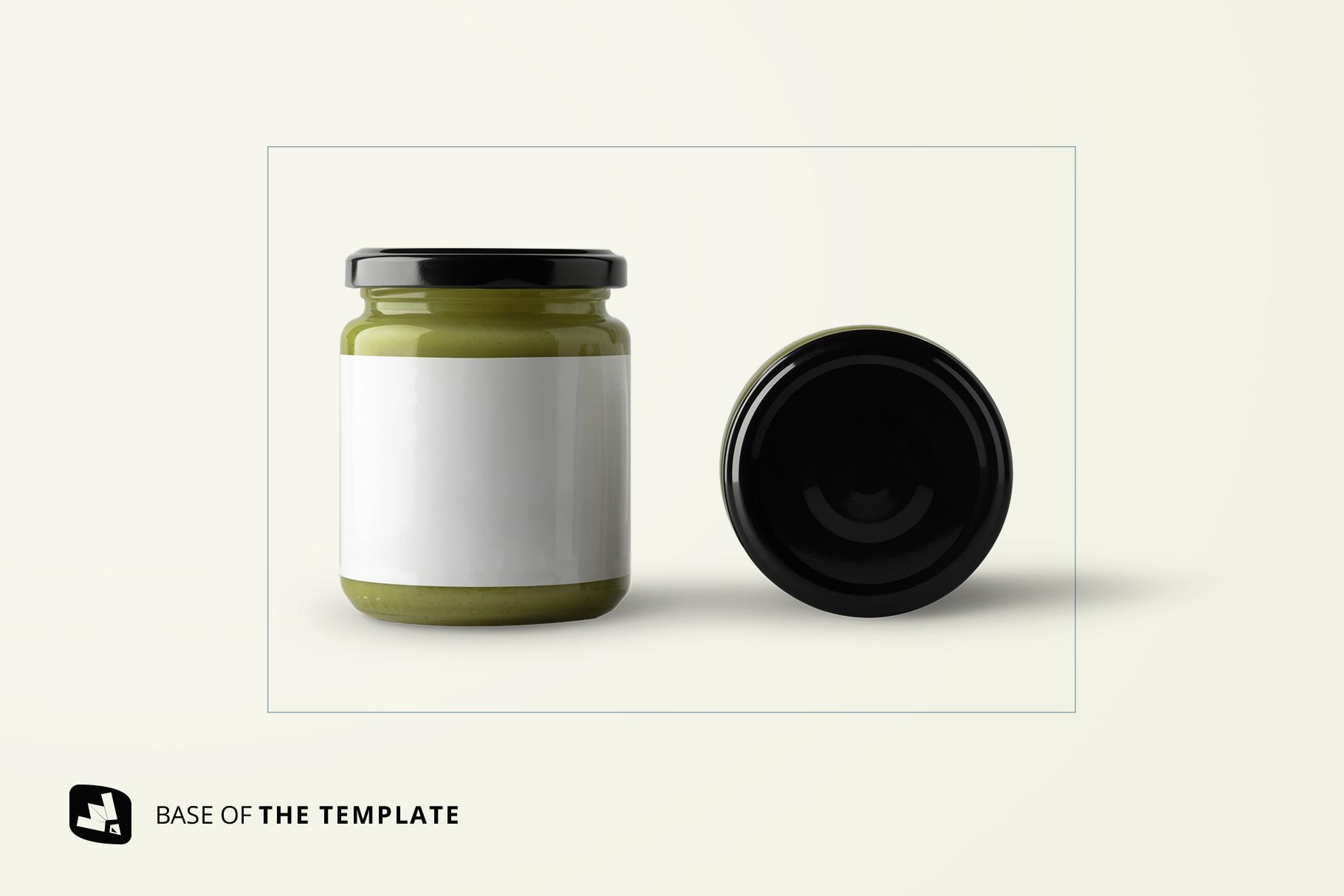 base image of the organic baby food packaging mockup