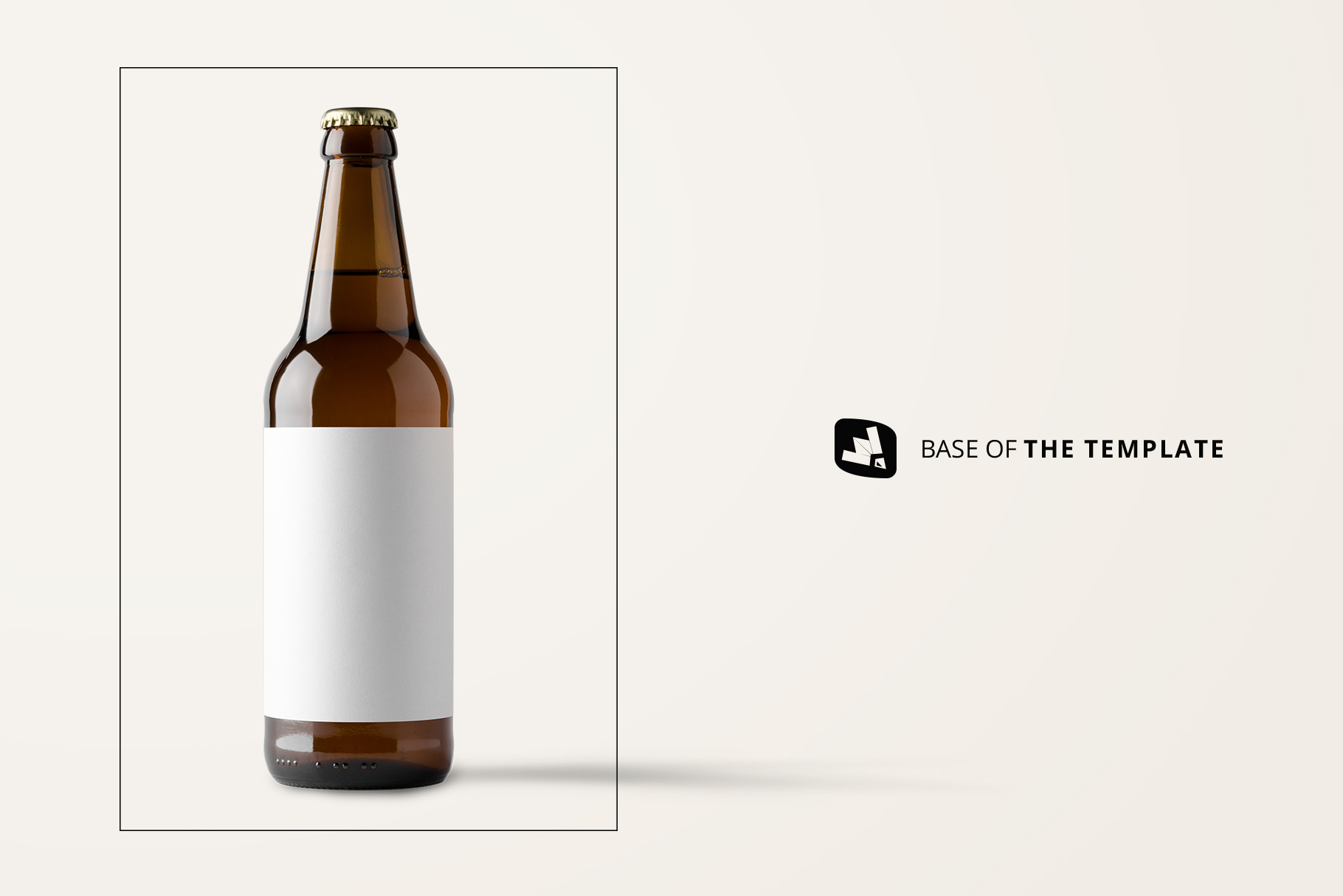 base image of the craft beer bottle packaging mockup