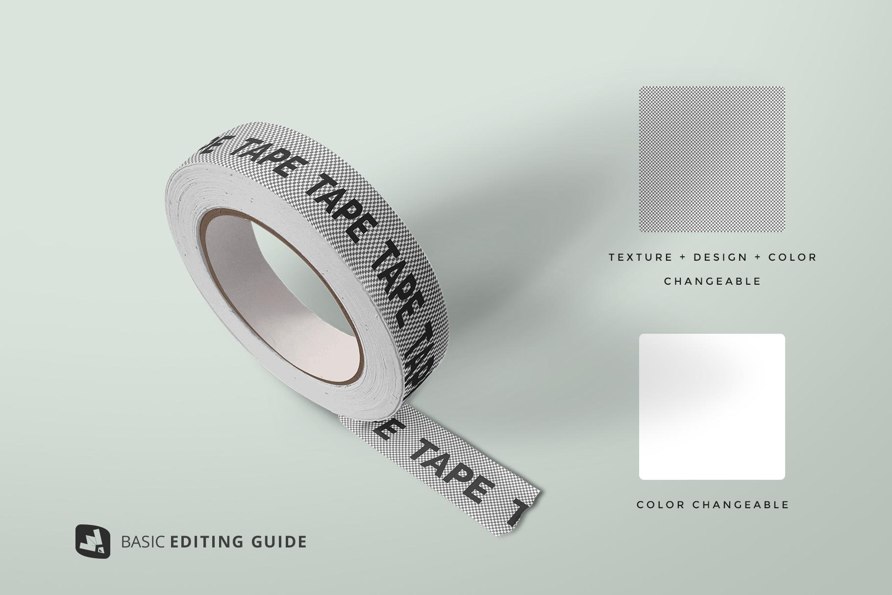 editability of the themed washi tape roll mockup