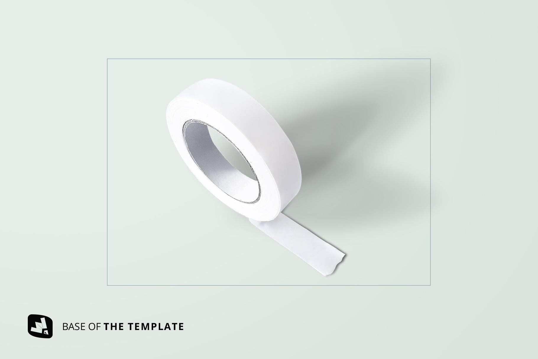 base image of the themed washi tape roll mockup