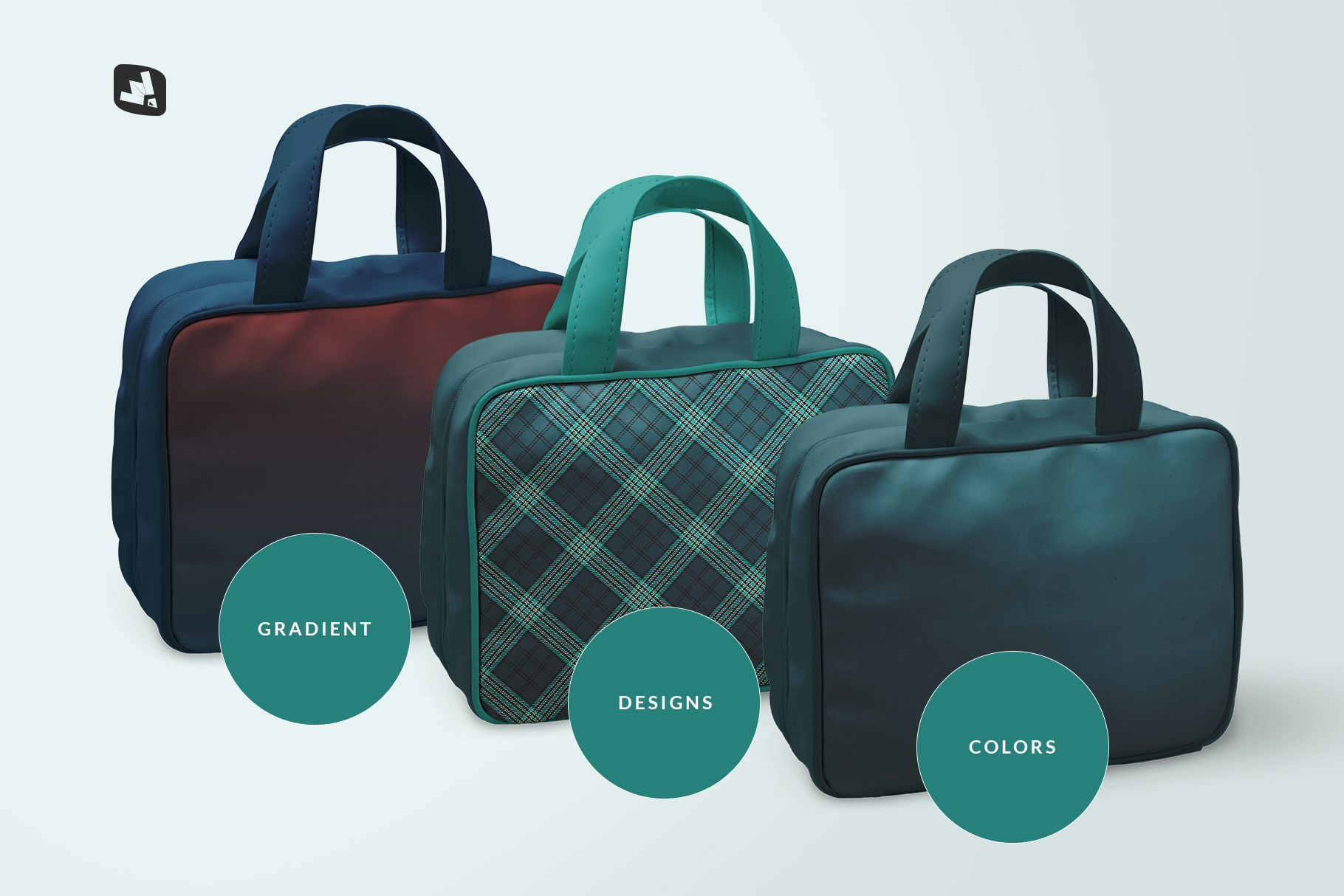 types of the faux leather messenger bag mockup