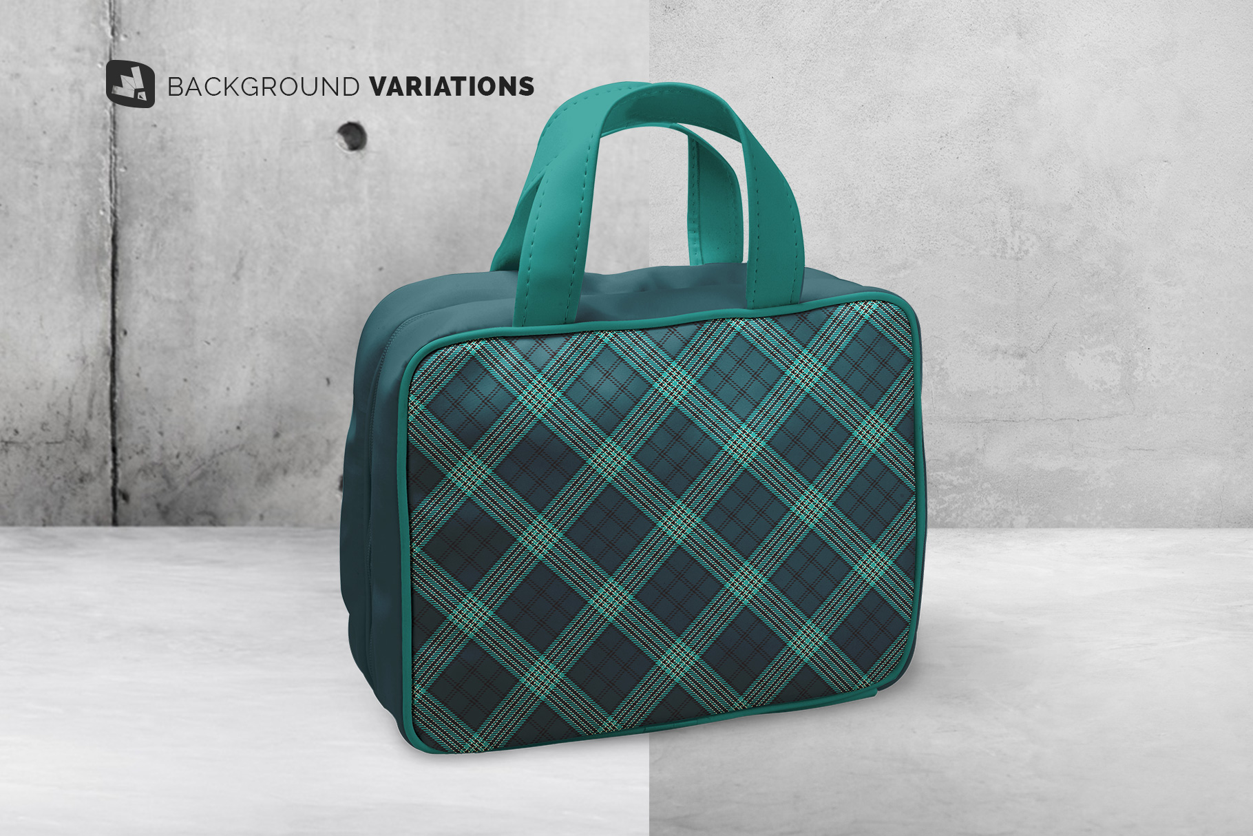 background options of the faux leather messenger bag mockup