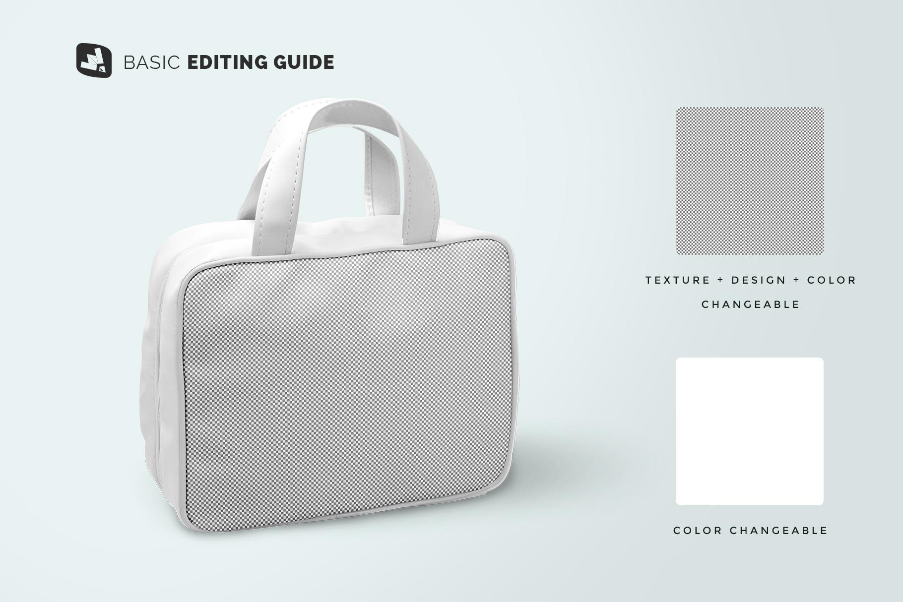 editability of the faux leather messenger bag mockup