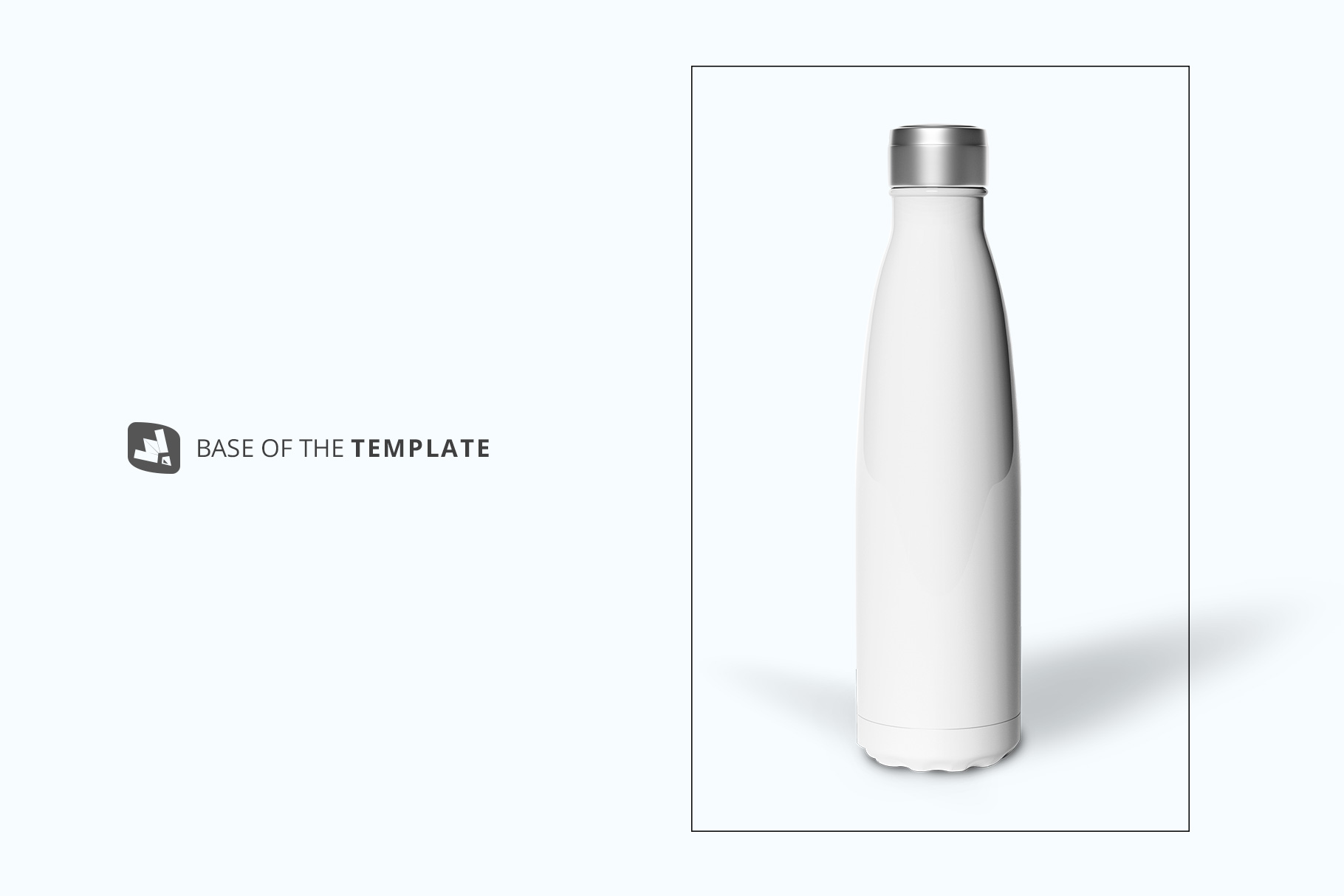 base image of the steel thermos bottle mockup