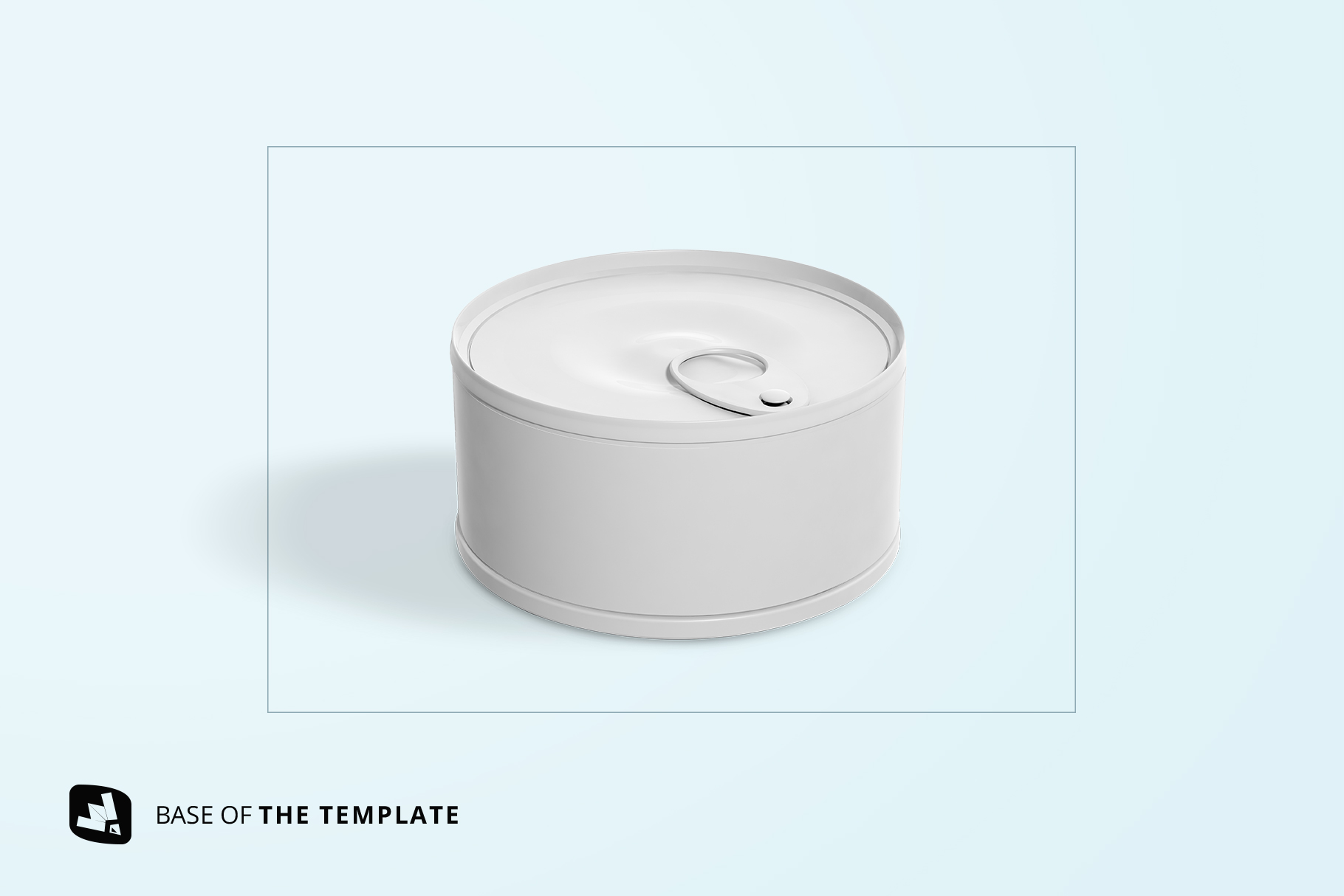 base image of the circular canned food packaging mockup