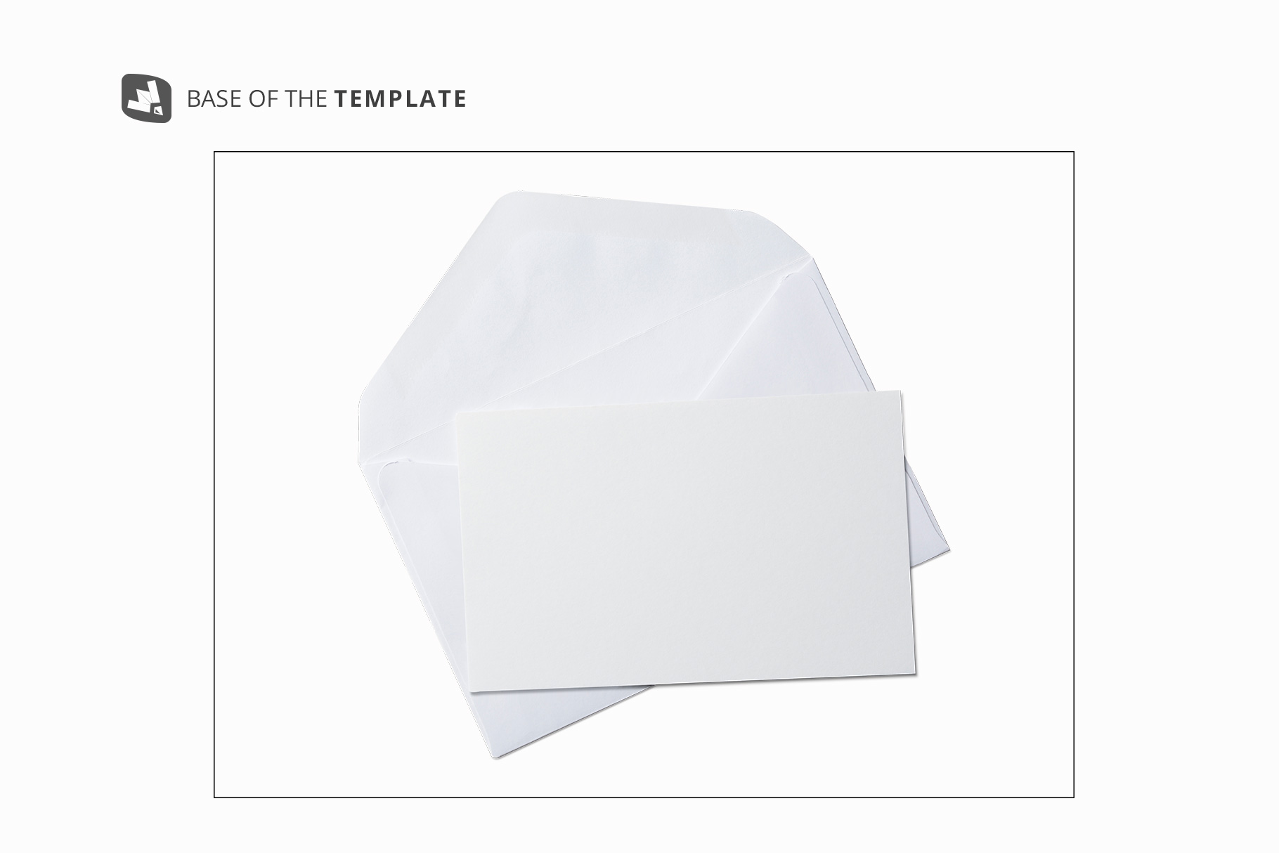 base ima ge of the rectangular envelope with card mockup