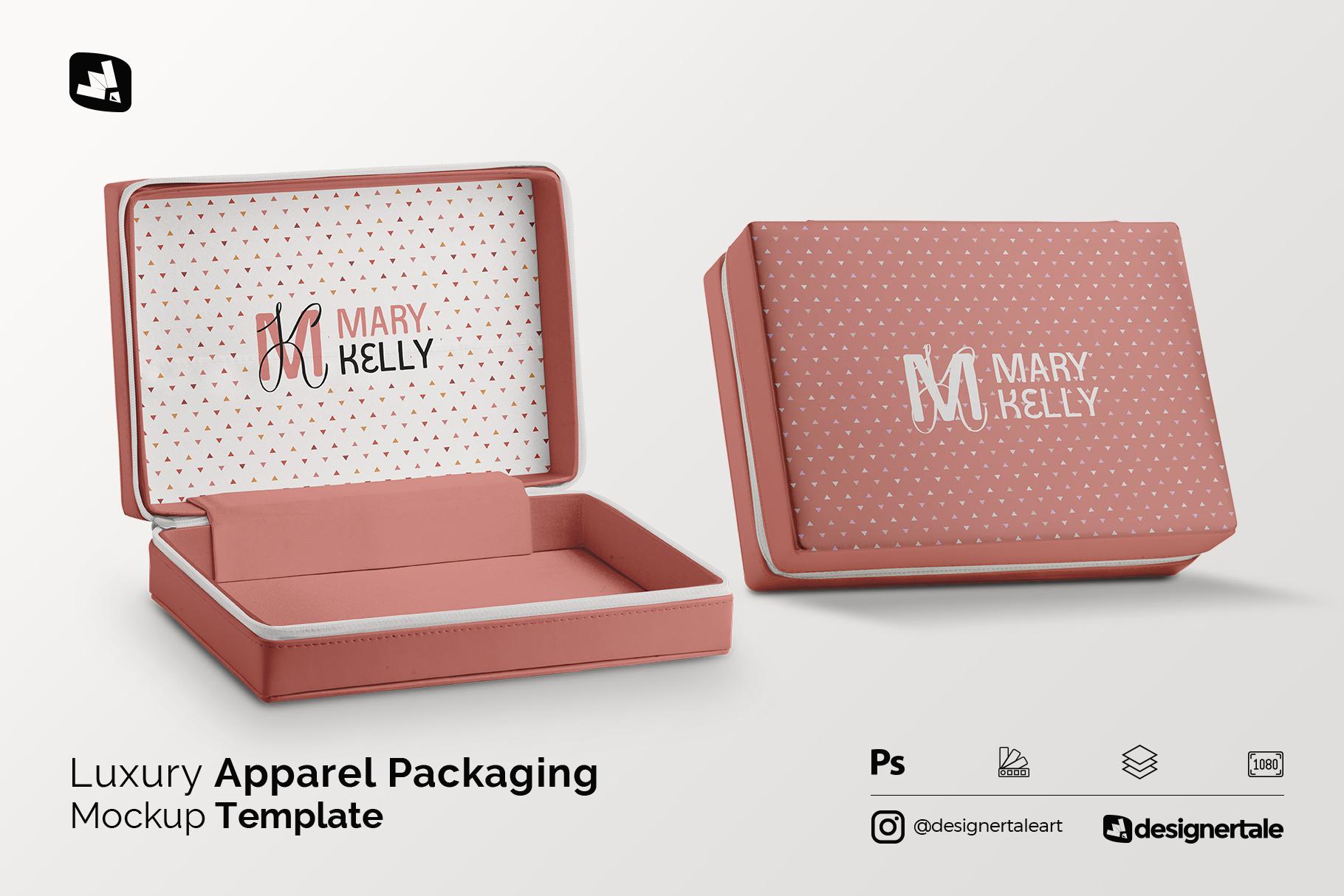 luxury apparel packaging mockup
