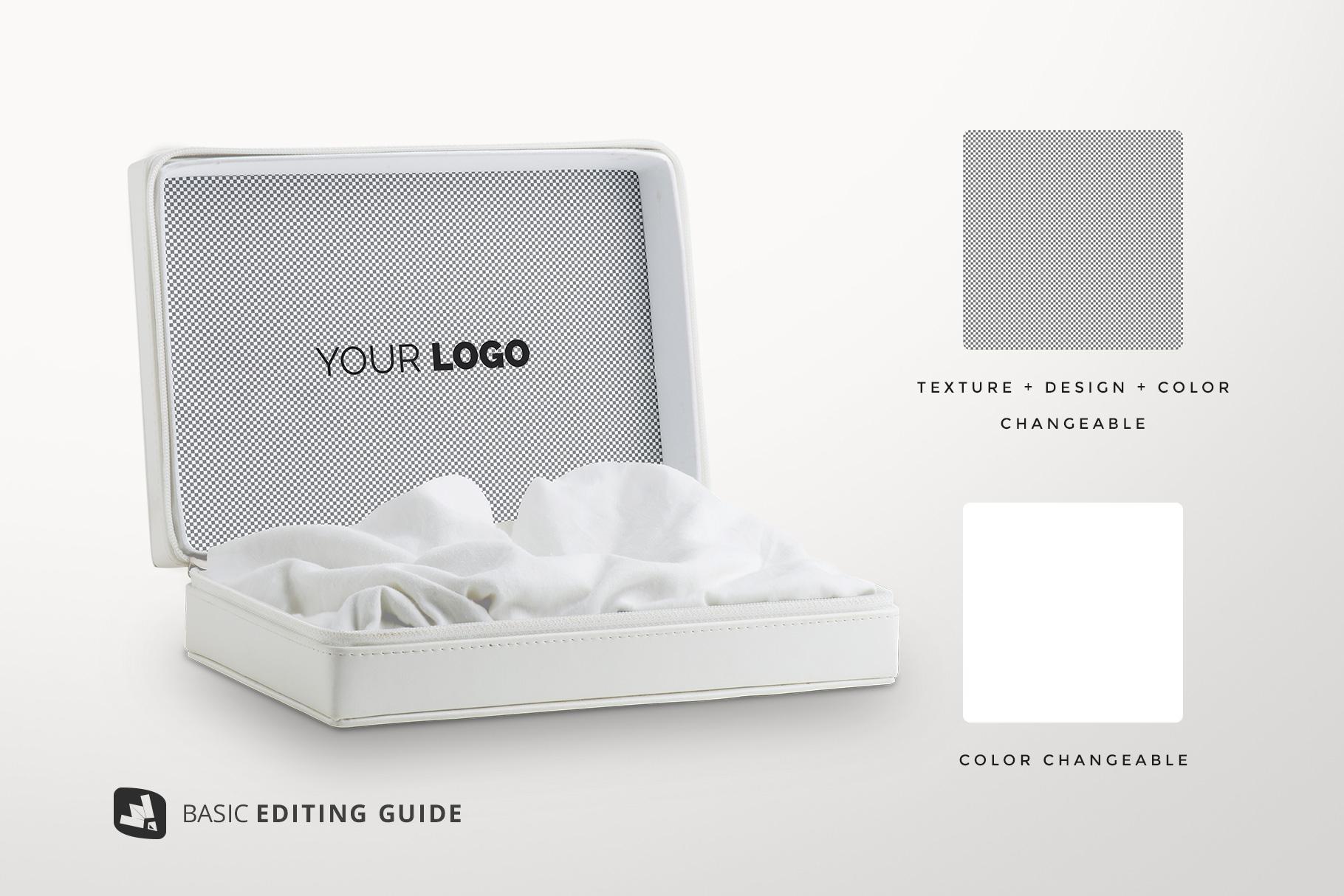 editability of the luxury apparel packaging mockup