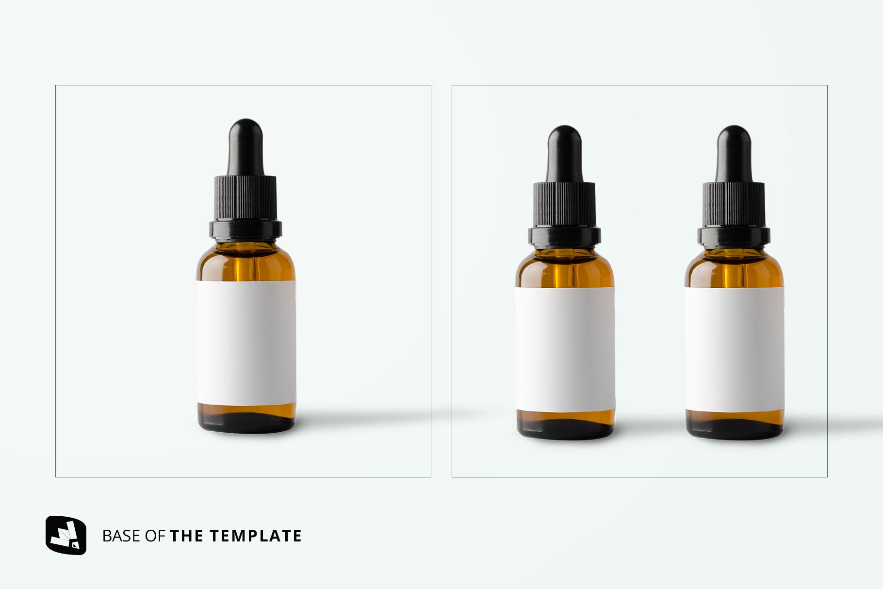 base image of the essential oil bottle packaging mockup