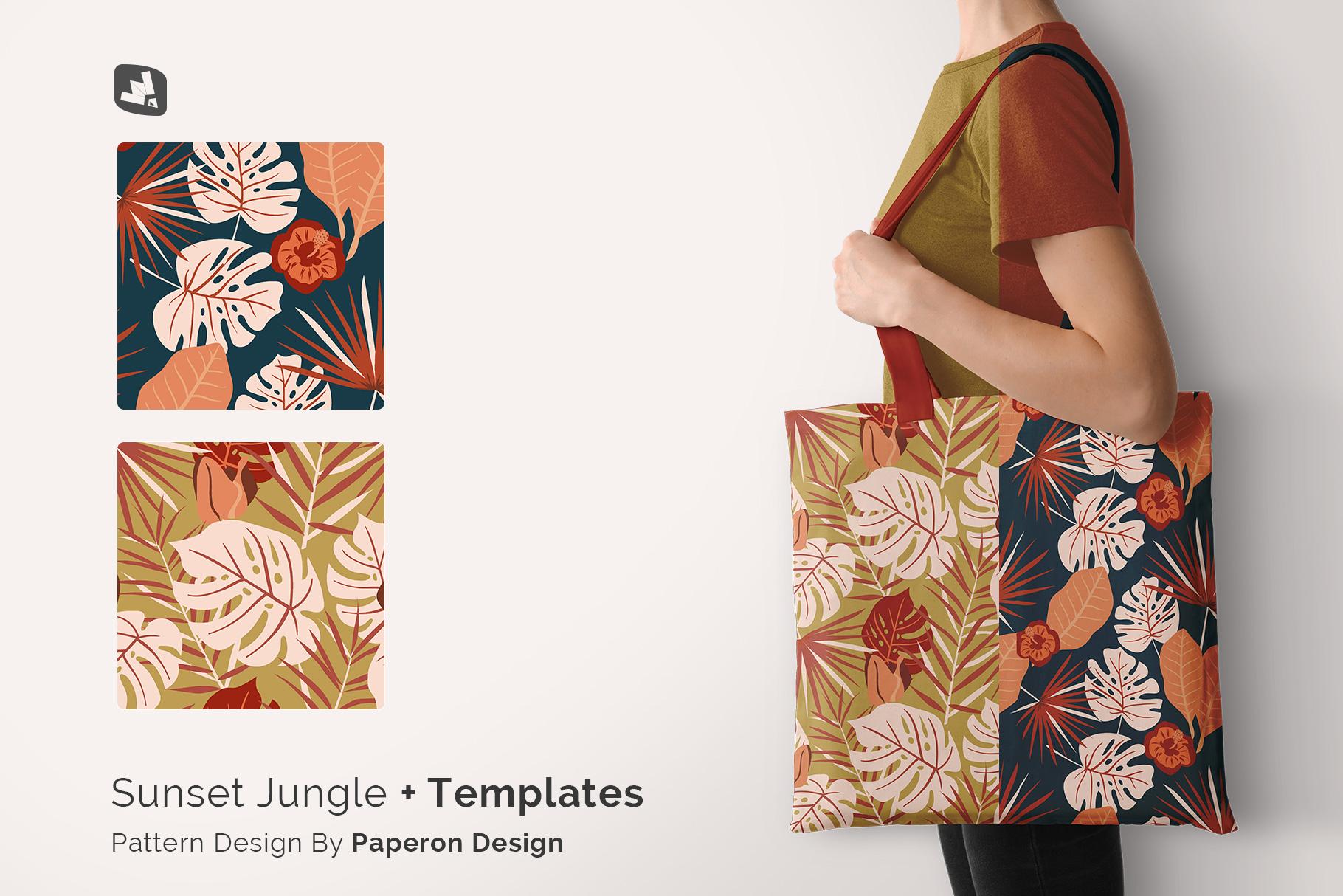 designer's credit of the large cotton bag mockup with model