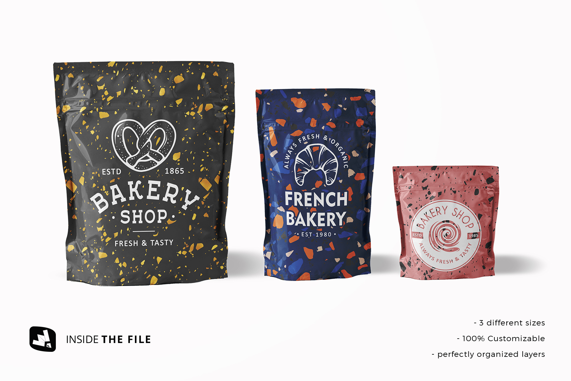 insdie the file of the flexible food pouch packaging mockup