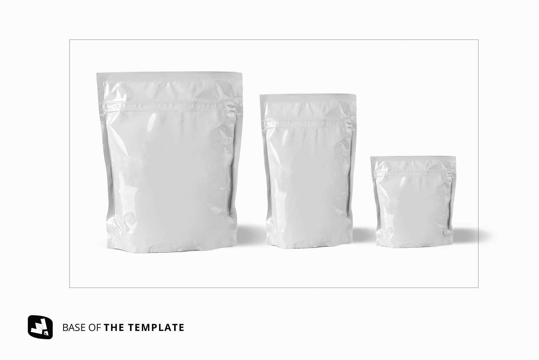 base image of the flexible food pouch packaging mockup