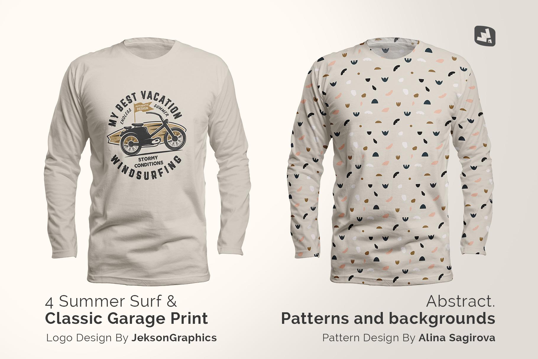 designer's credit of the long sleeve round collar tshirt mockup