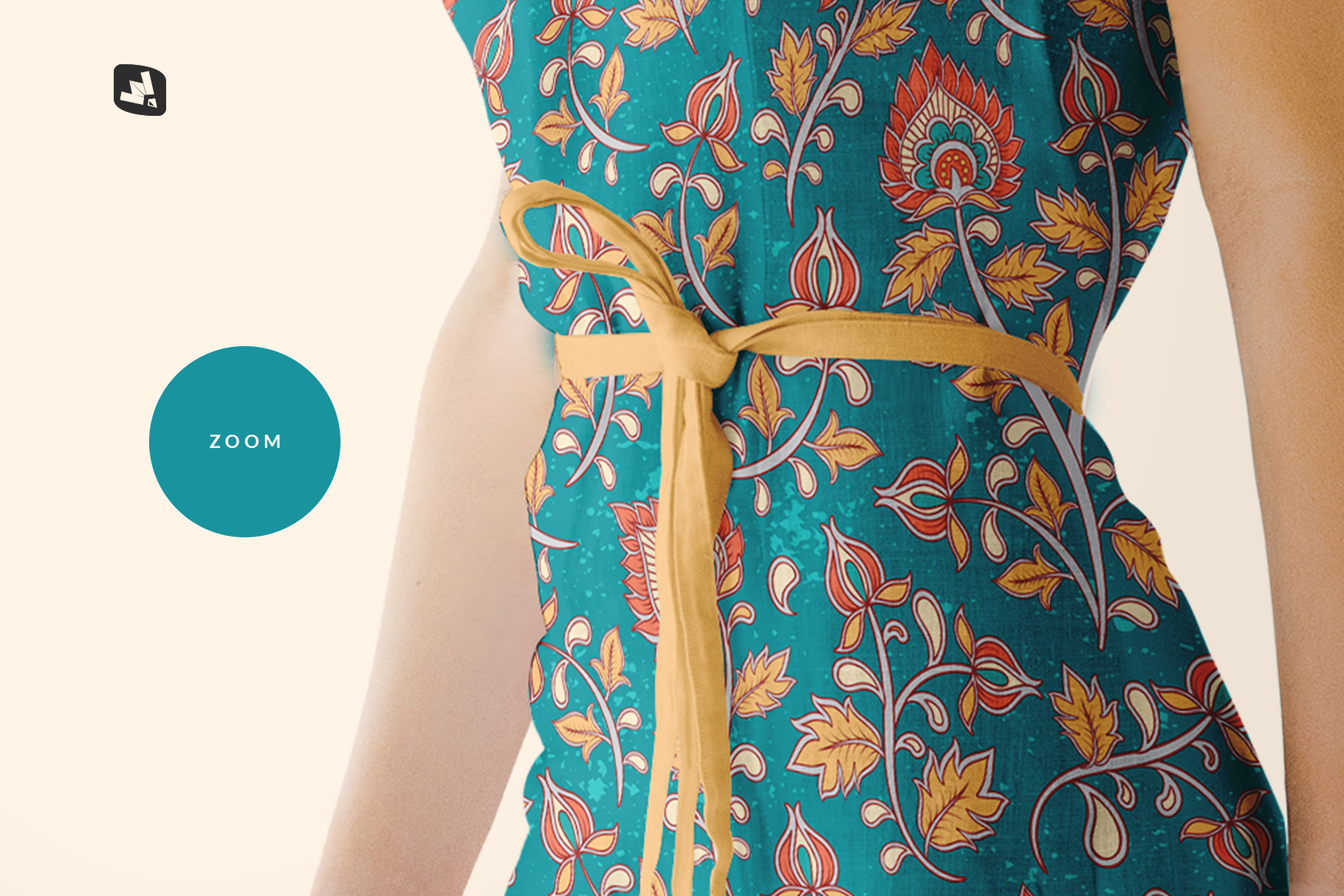 zoomed in image of the women's summer dress mockup vol.3